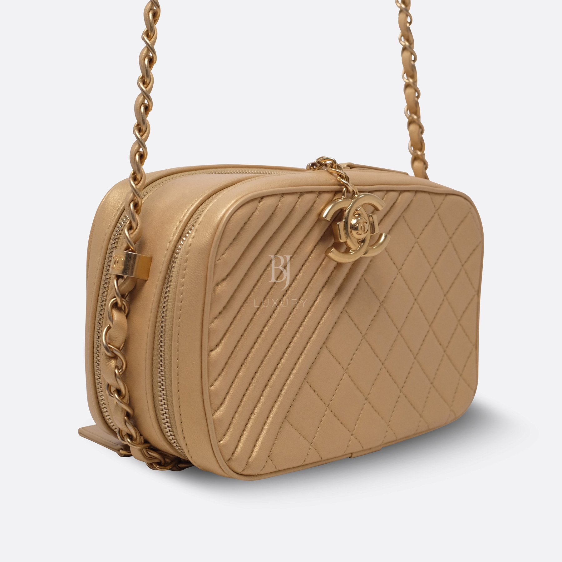 Chanel Camera Case Medium Brushed Gold Calf Gold BJ Luxury 9.jpg