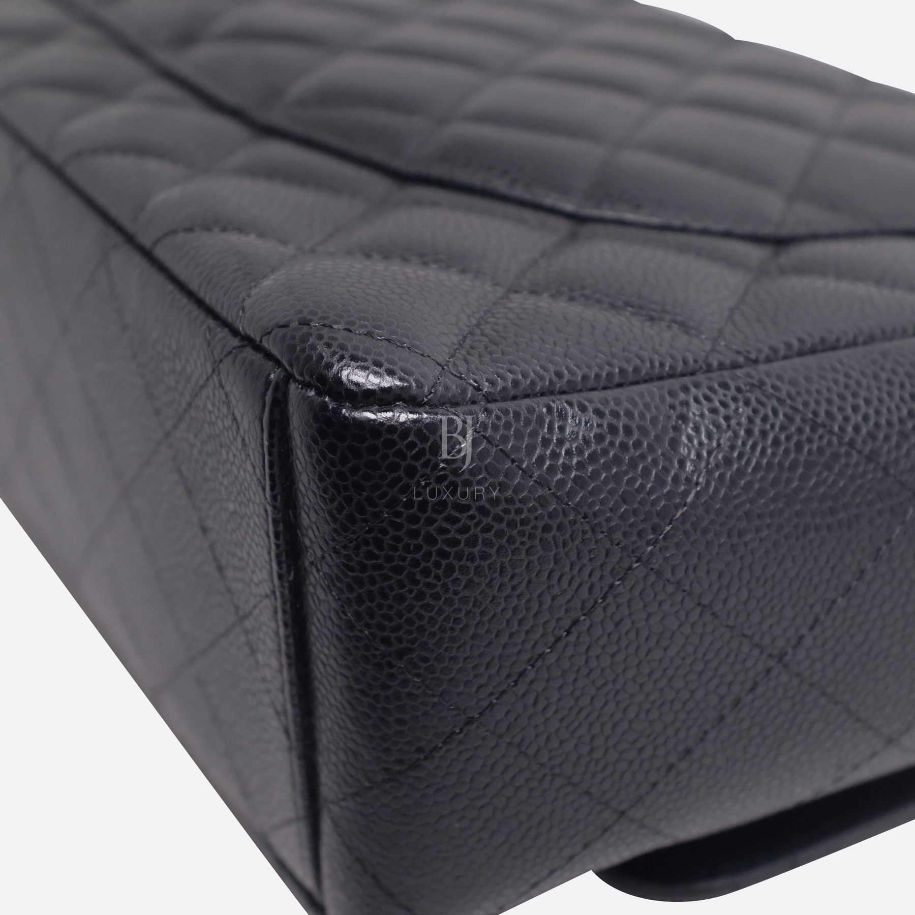 Chanel Classic Handbag Caviar Maxi Black BJ Luxury 10.jpg