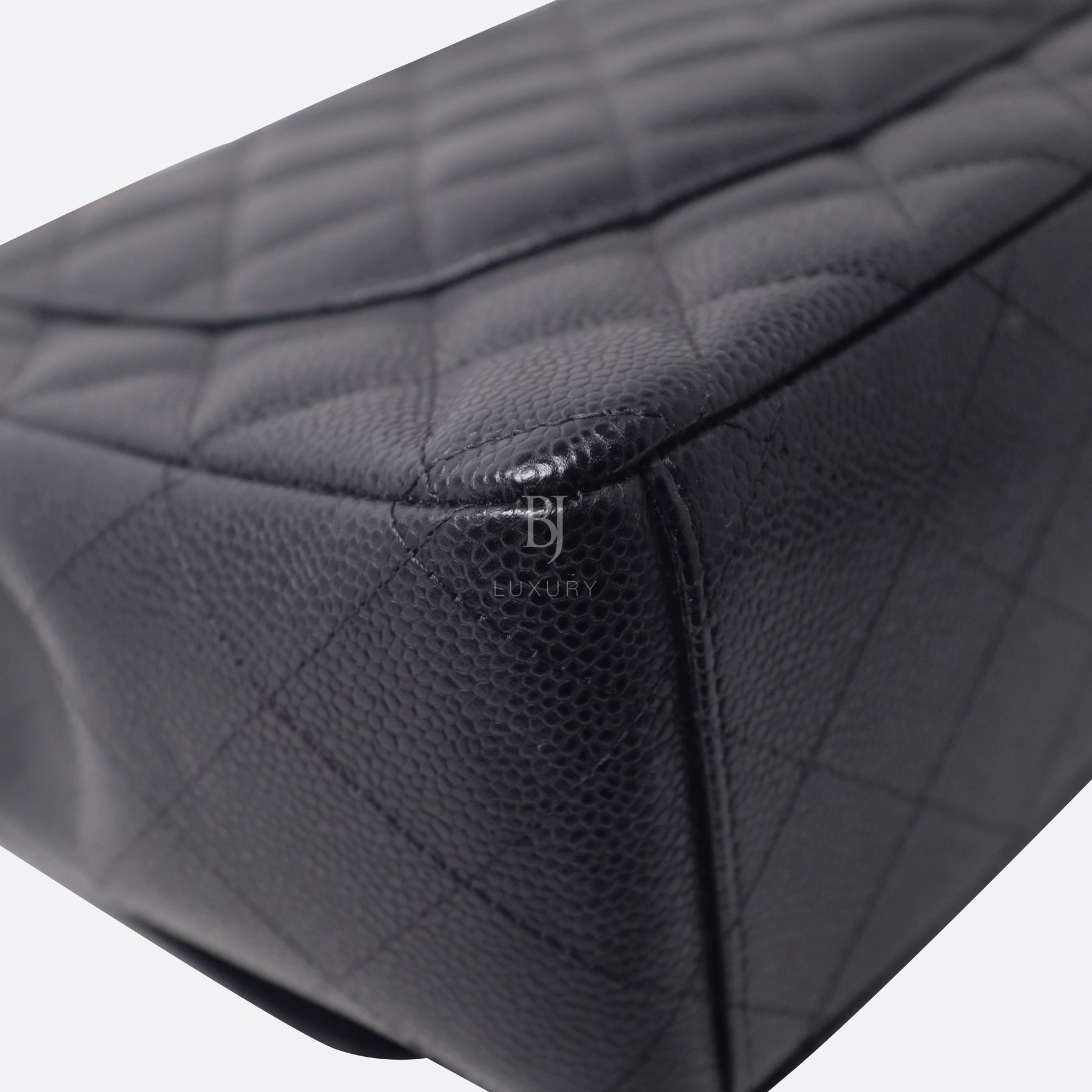 Chanel Classic Handbag Caviar Maxi Black BJ Luxury 11.jpg