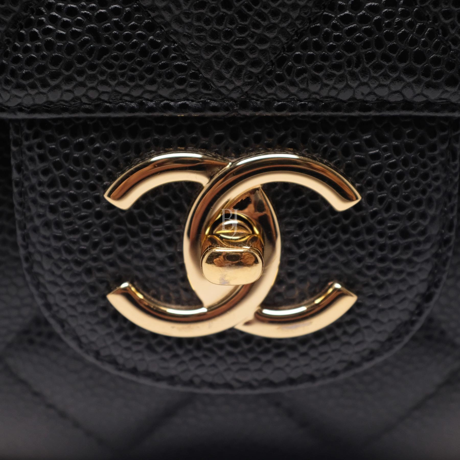 Chanel Classic Handbag Caviar Maxi Black BJ Luxury 13.jpg