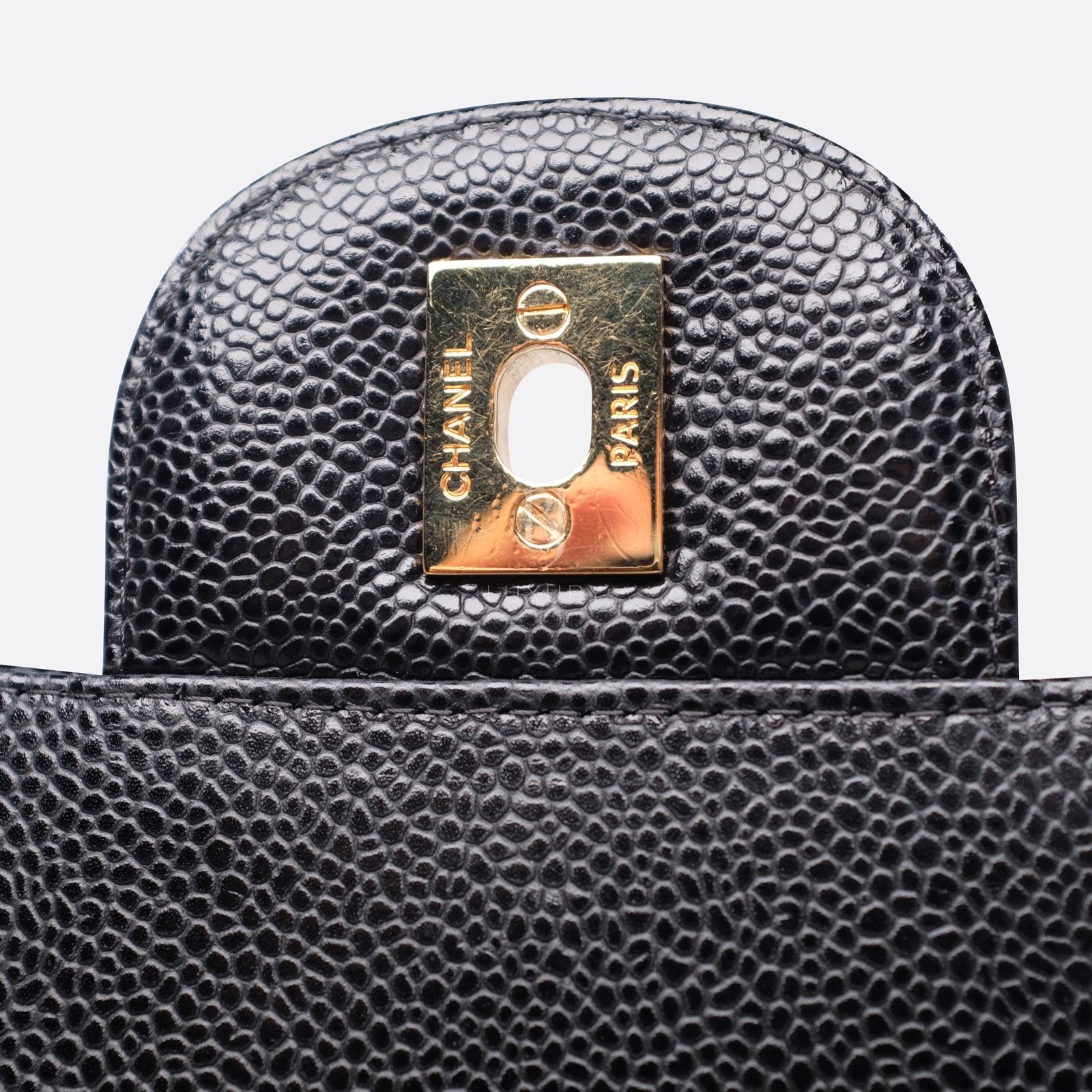 Chanel Classic Handbag Caviar Maxi Black BJ Luxury 16.jpg