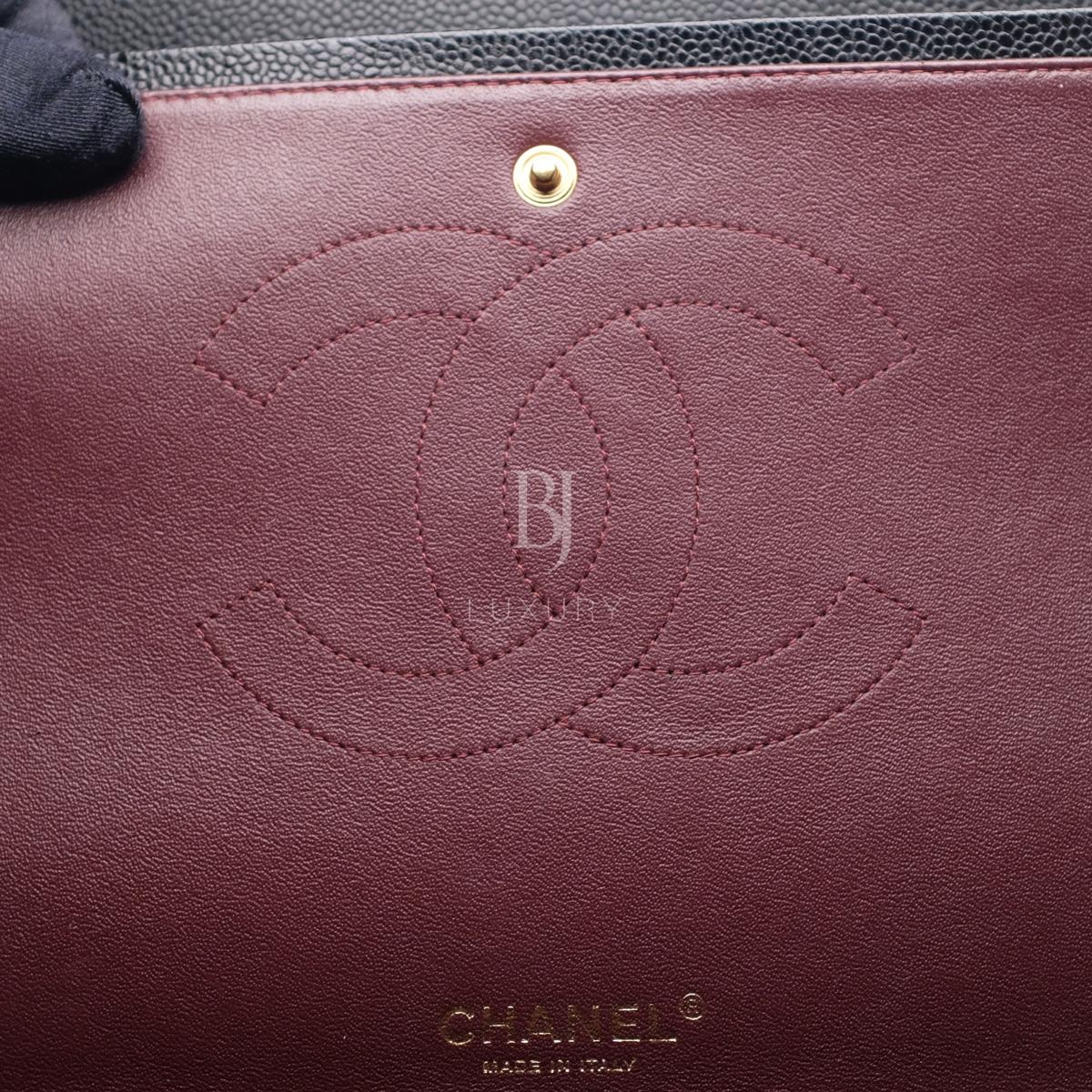 Chanel Classic Handbag Caviar Maxi Black BJ Luxury 18.jpg