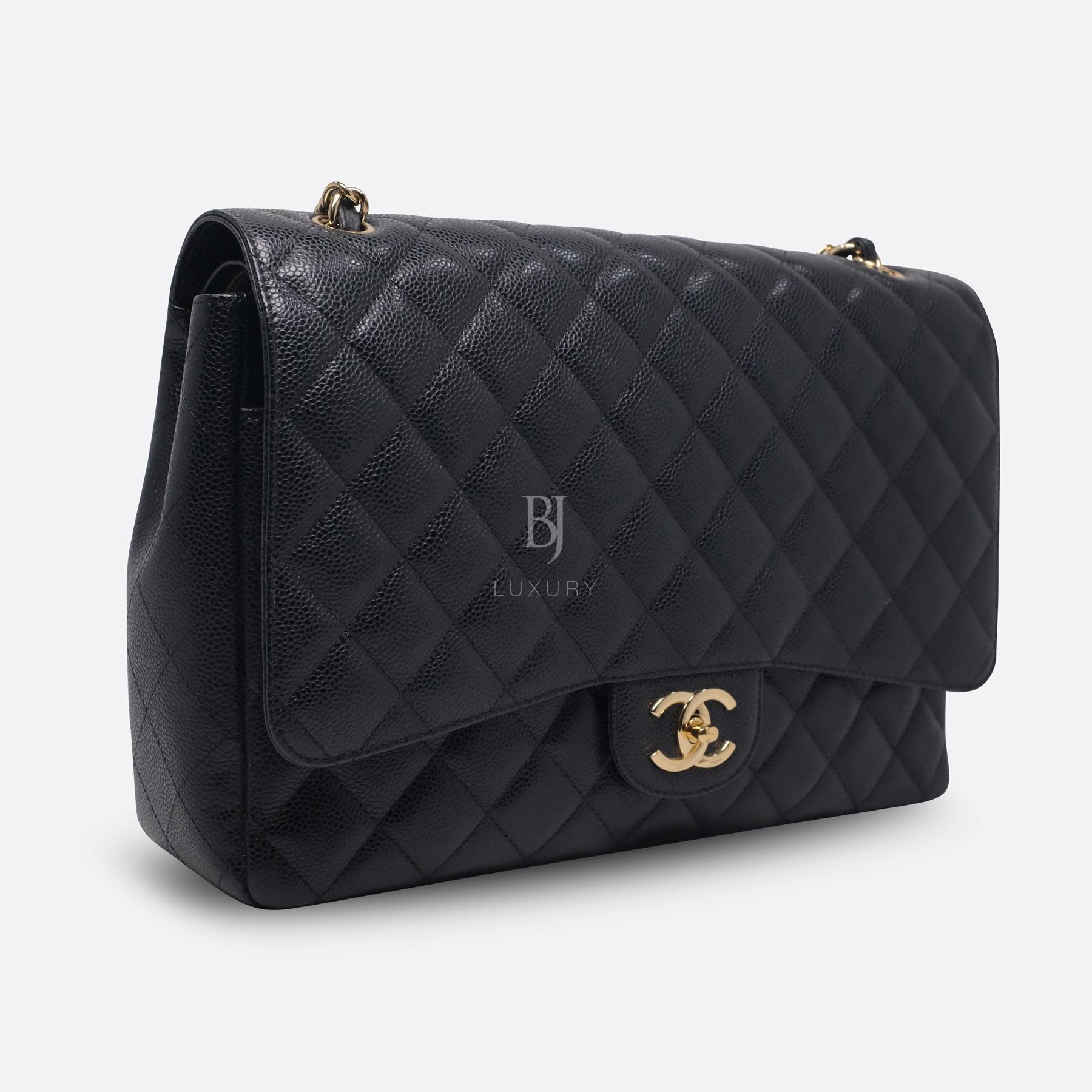 Chanel Classic Handbag Caviar Maxi Black BJ Luxury 3.jpg