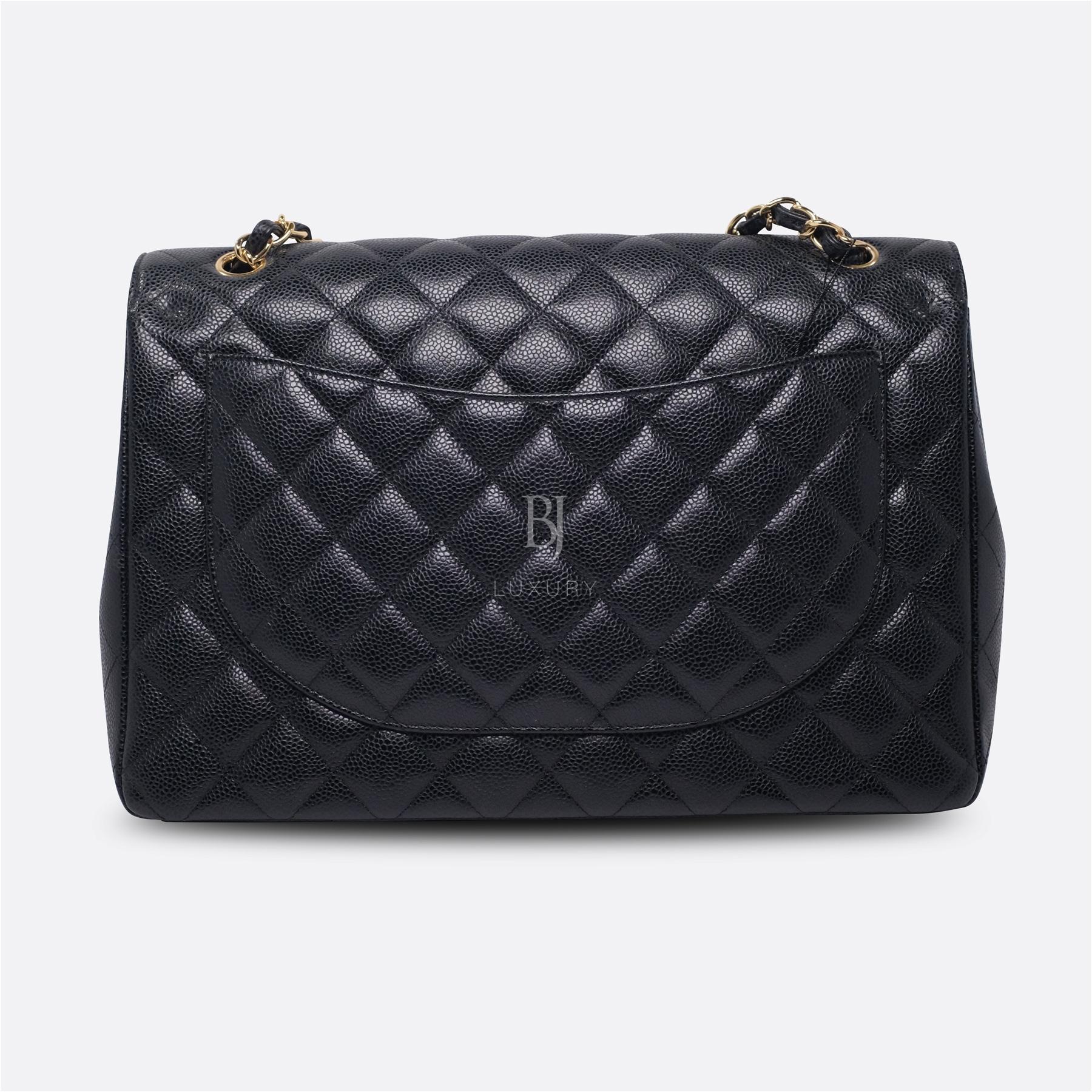 Chanel Classic Handbag Caviar Maxi Black BJ Luxury 5.jpg