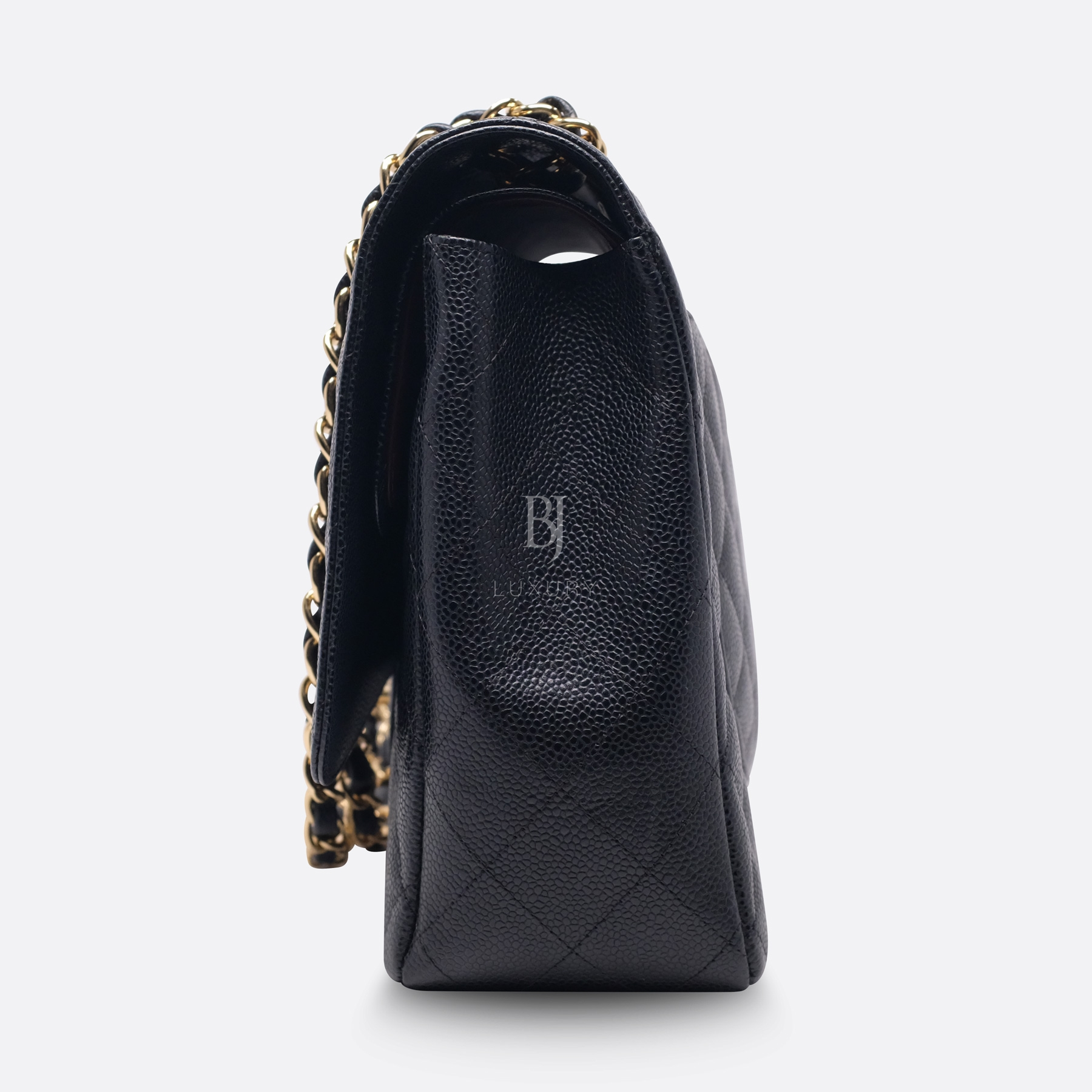 Chanel Classic Handbag Caviar Maxi Black BJ Luxury 6.jpg