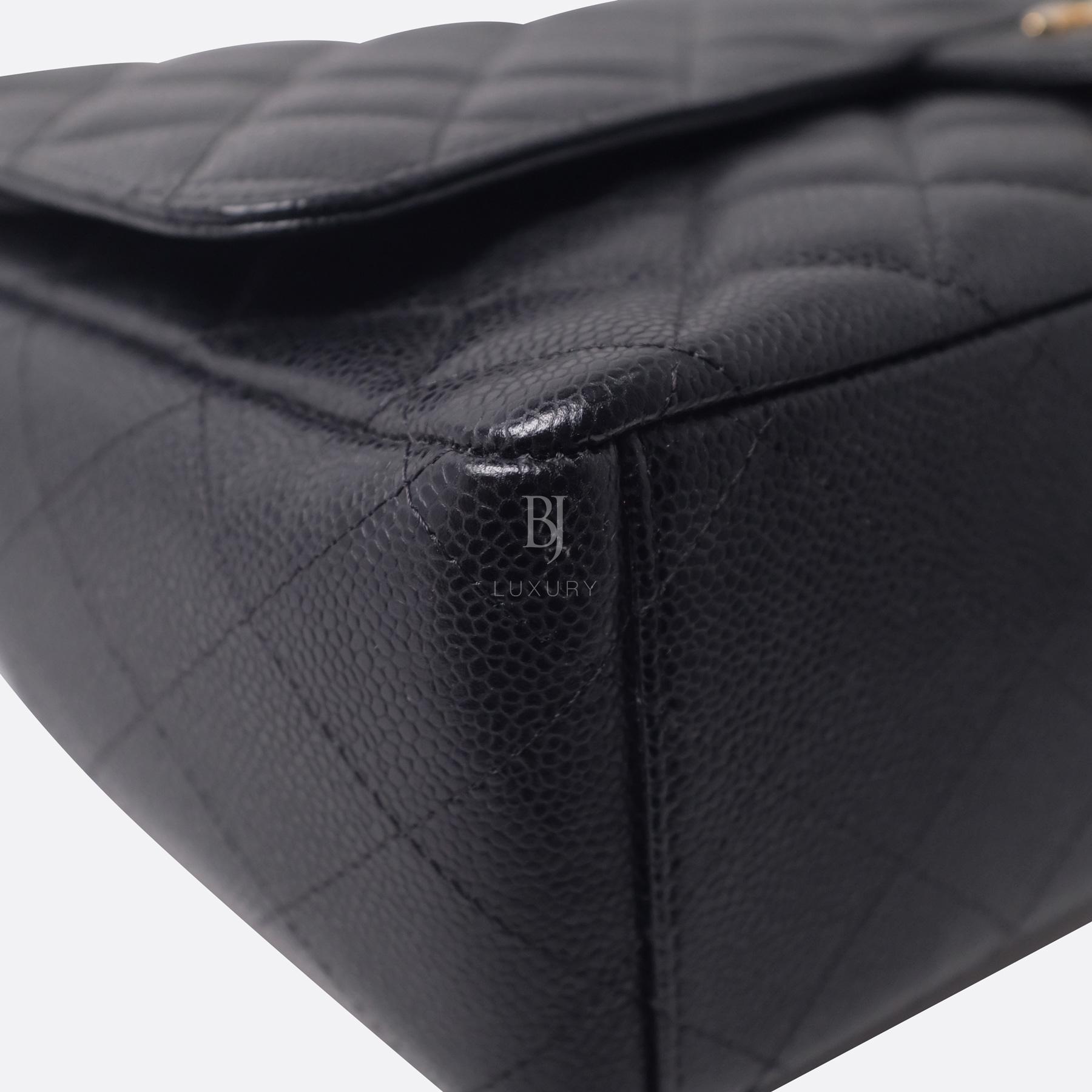 Chanel Classic Handbag Caviar Maxi Black BJ Luxury 8.jpg