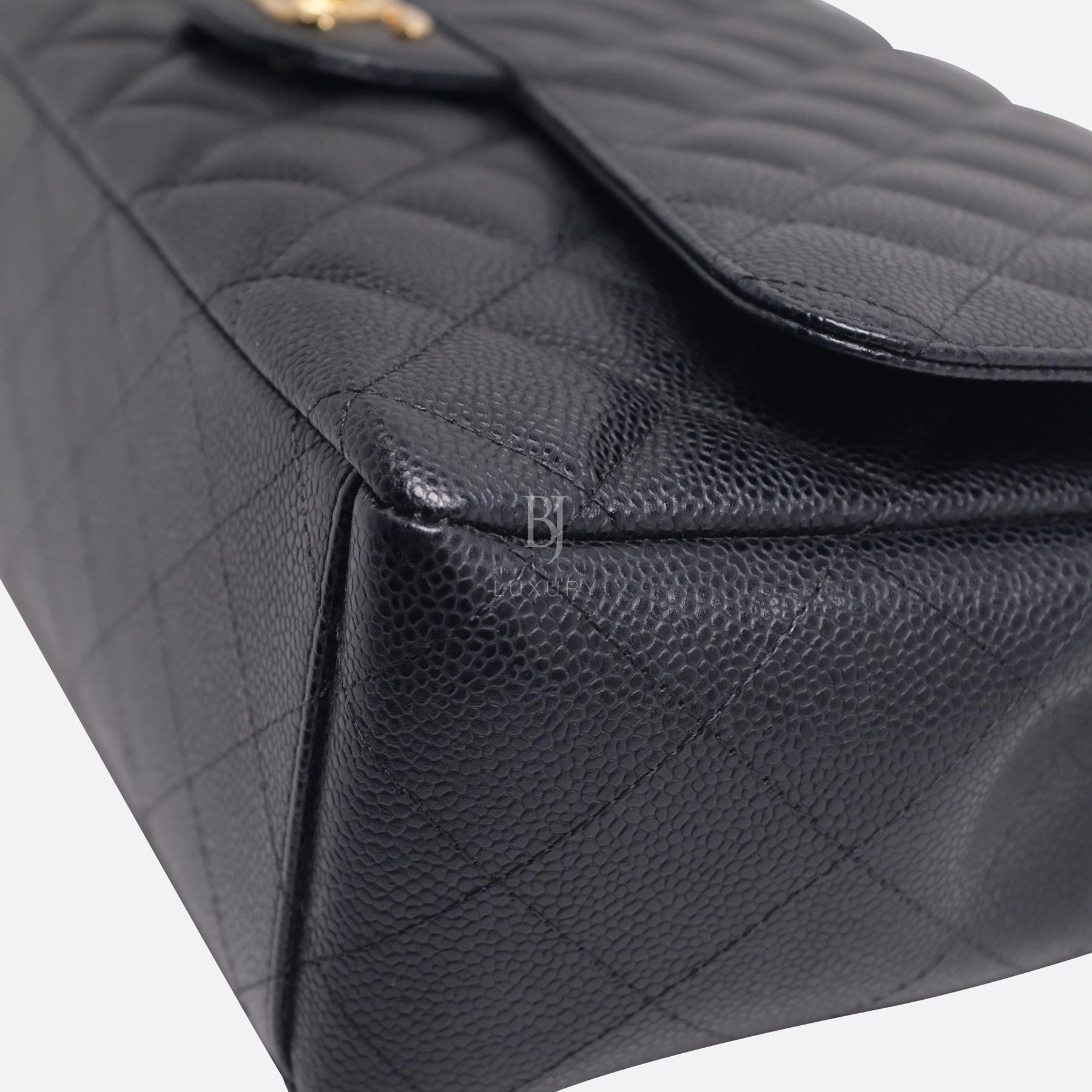 Chanel Classic Handbag Caviar Maxi Black BJ Luxury 9.jpg
