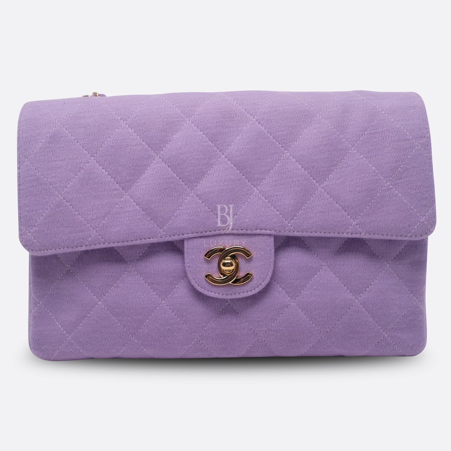 Chanel Flap Bag Medium Jersey Gold Lilac BJ Luxury 1.jpg