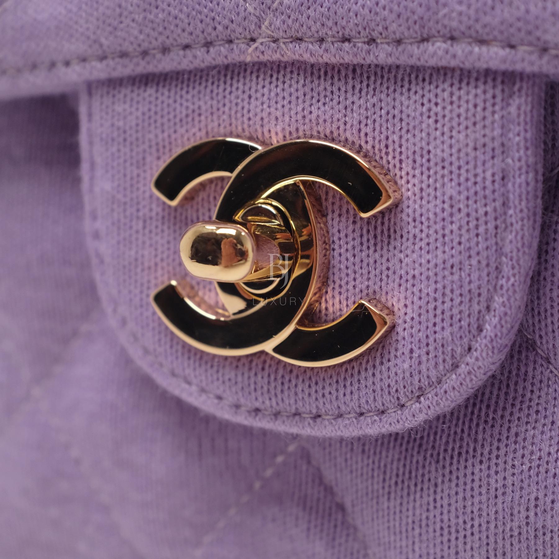 Chanel Flap Bag Medium Jersey Gold Lilac BJ Luxury 12.jpg