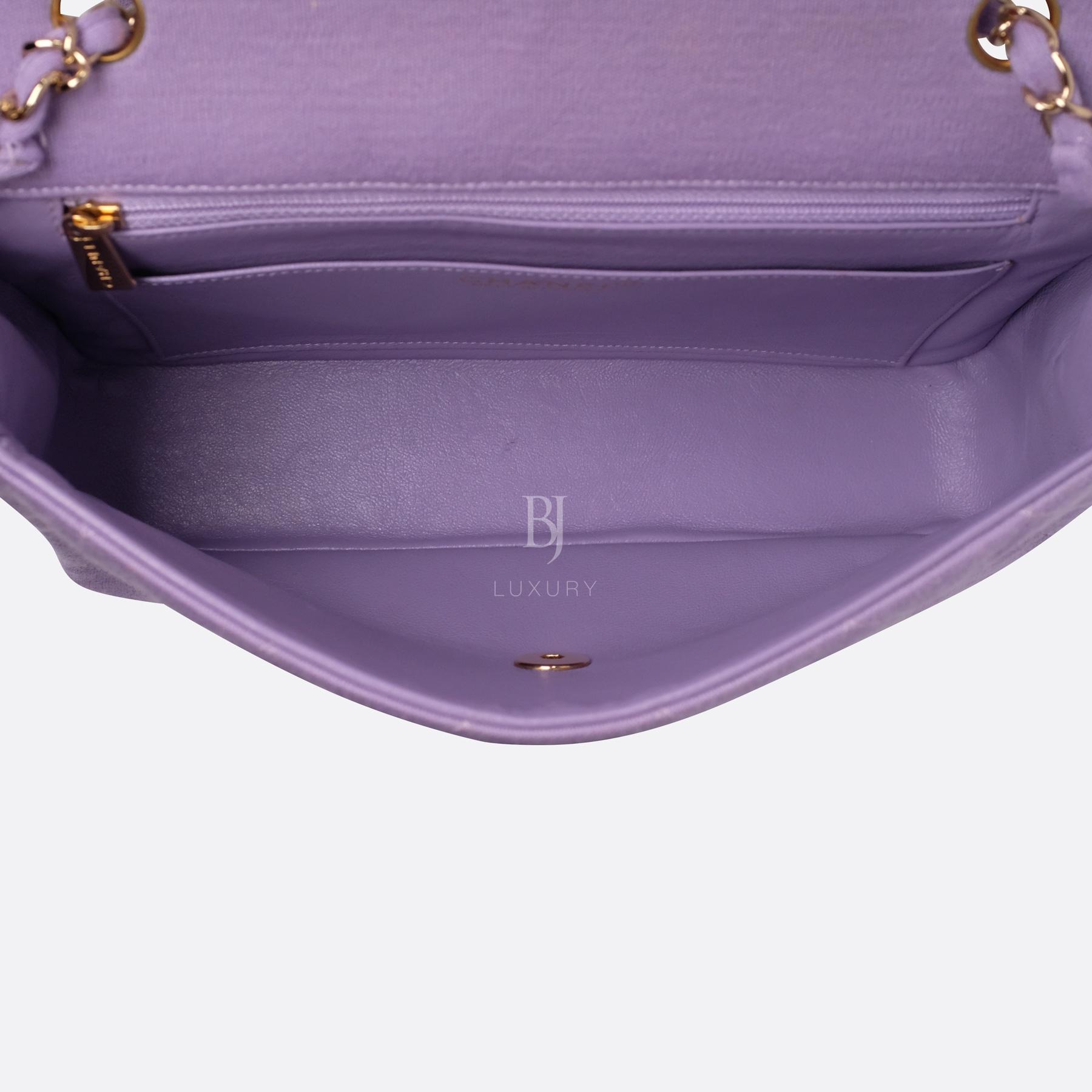 Chanel Flap Bag Medium Jersey Gold Lilac BJ Luxury 17.jpg