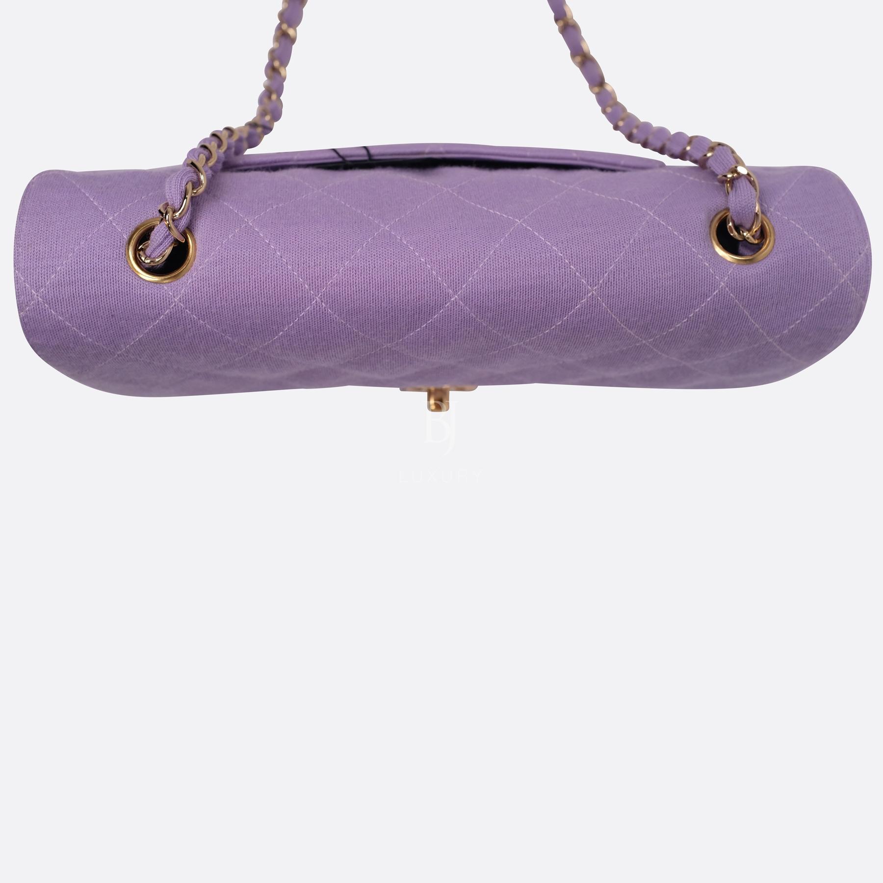 Chanel Flap Bag Medium Jersey Gold Lilac BJ Luxury 6.jpg