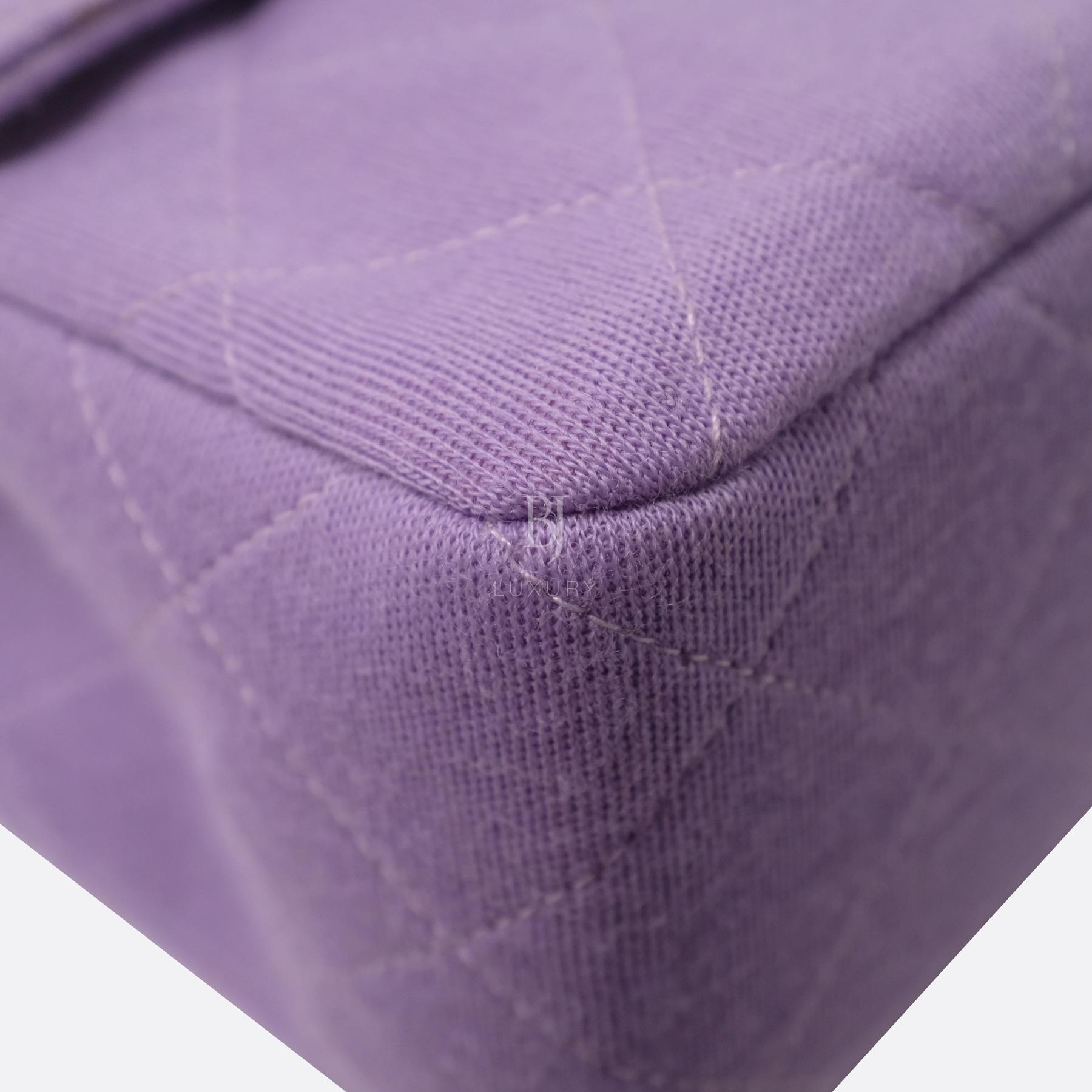 Chanel Flap Bag Medium Jersey Gold Lilac BJ Luxury 8.jpg