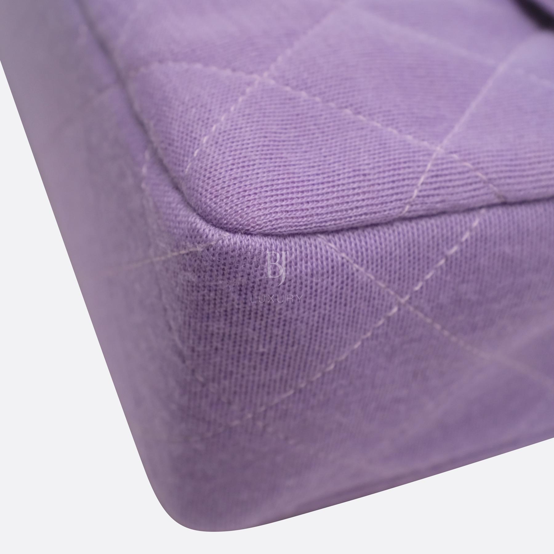 Chanel Flap Bag Medium Jersey Gold Lilac BJ Luxury 9.jpg
