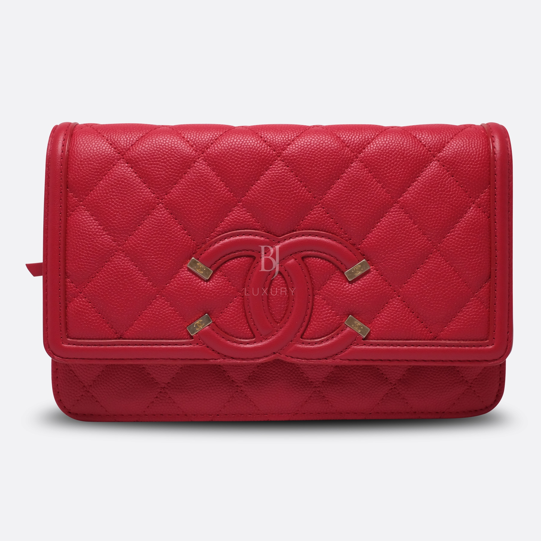 Chanel Wallet On Chain Red Caviar Brushed Gold BJ Luxury 1.jpg