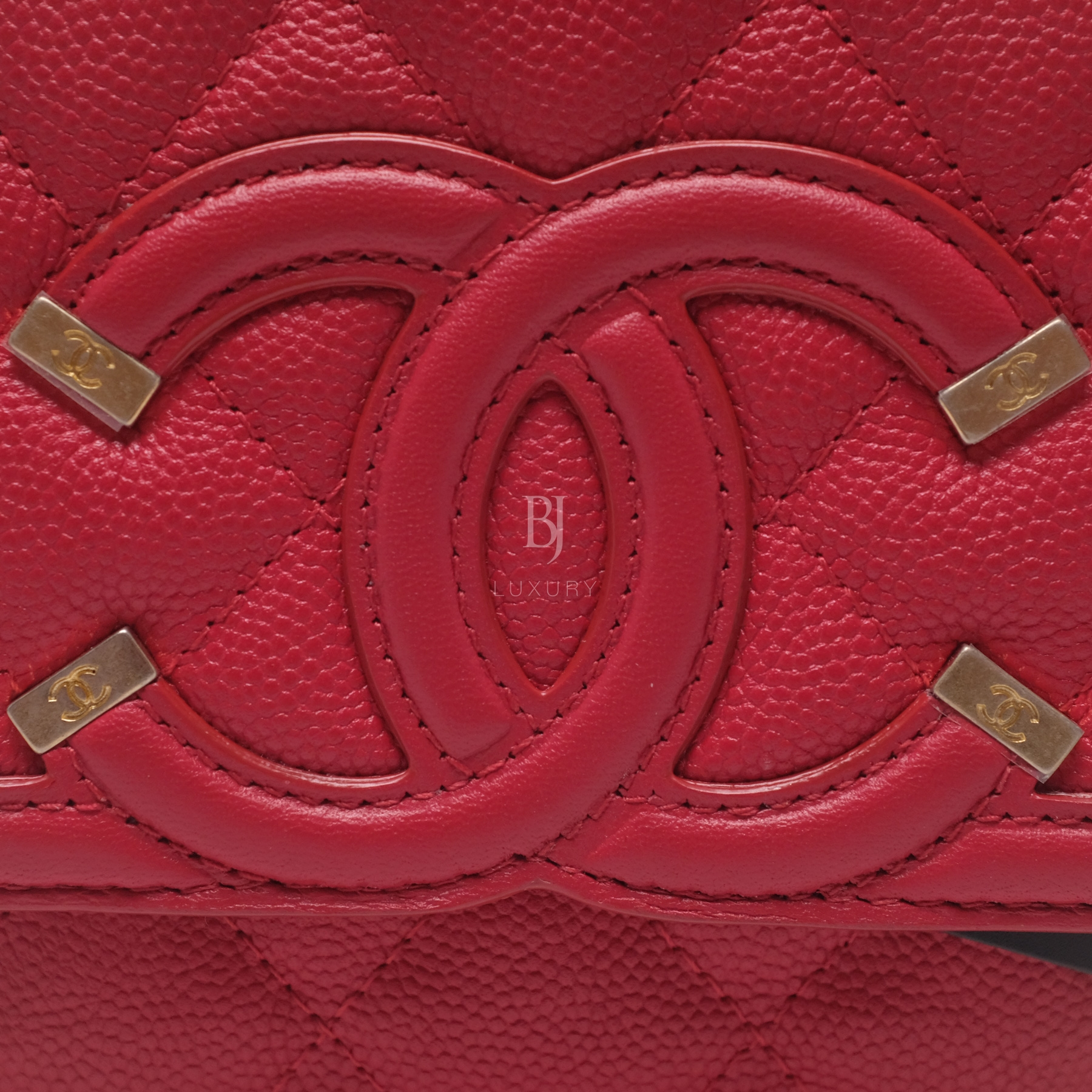 Chanel Wallet On Chain Red Caviar Brushed Gold BJ Luxury 11.jpg
