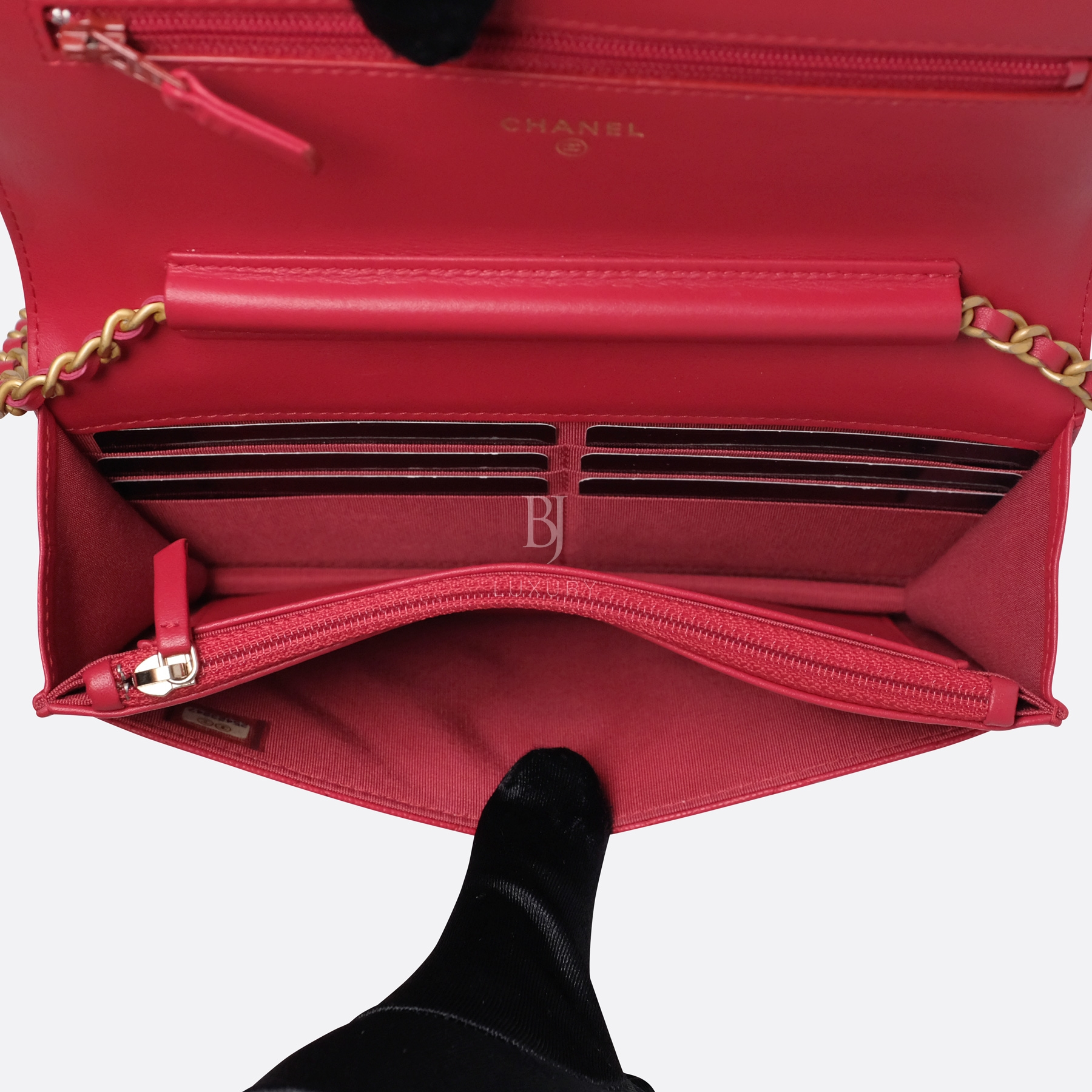 Chanel Wallet On Chain Red Caviar Brushed Gold BJ Luxury 15.jpg