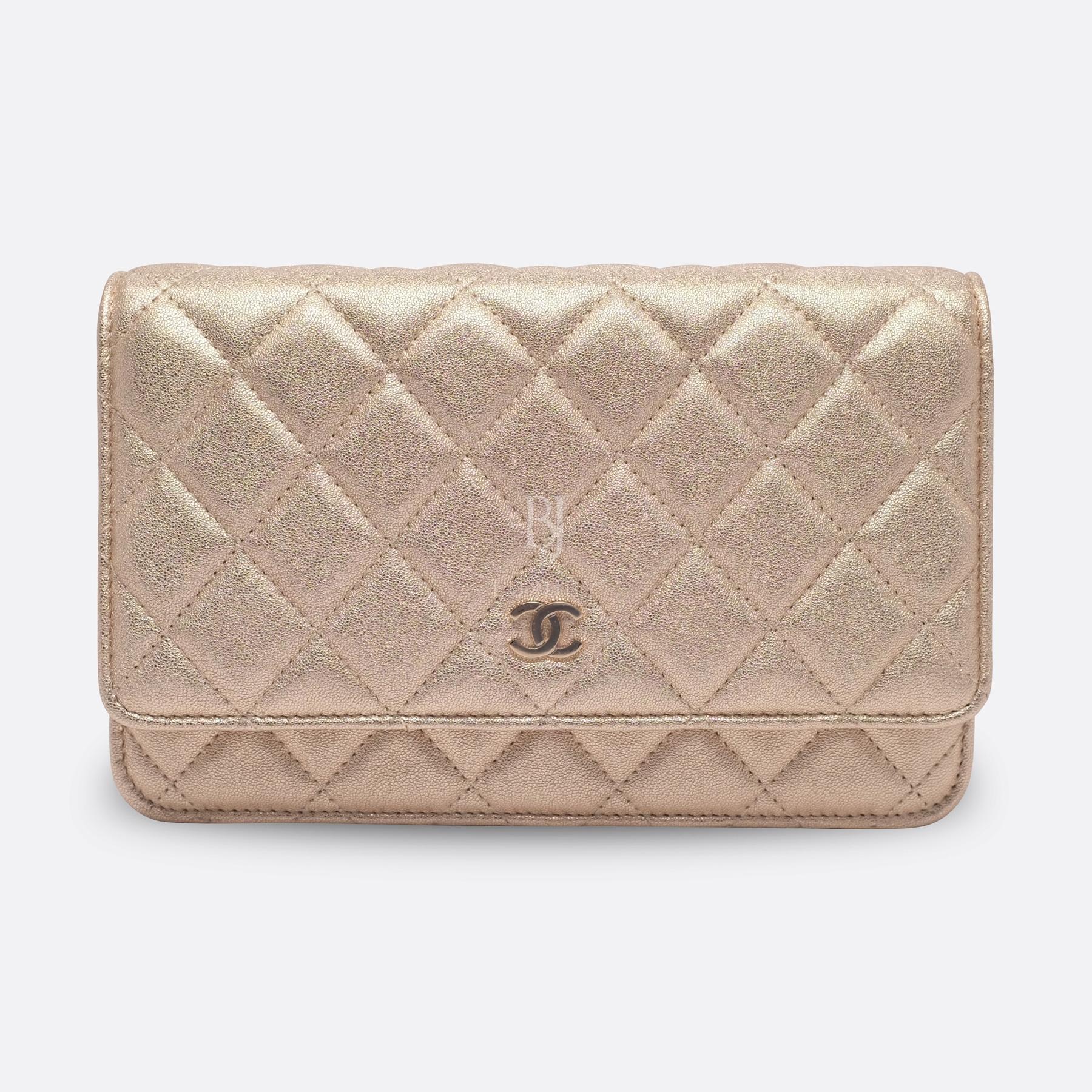 Chanel Wallet on Chain Mini Lambskin Light Gold BJ Luxury 1.jpg