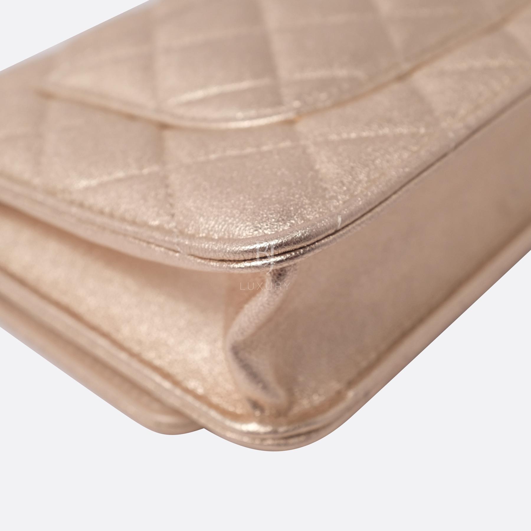Chanel Wallet on Chain Mini Lambskin Light Gold BJ Luxury 10.jpg