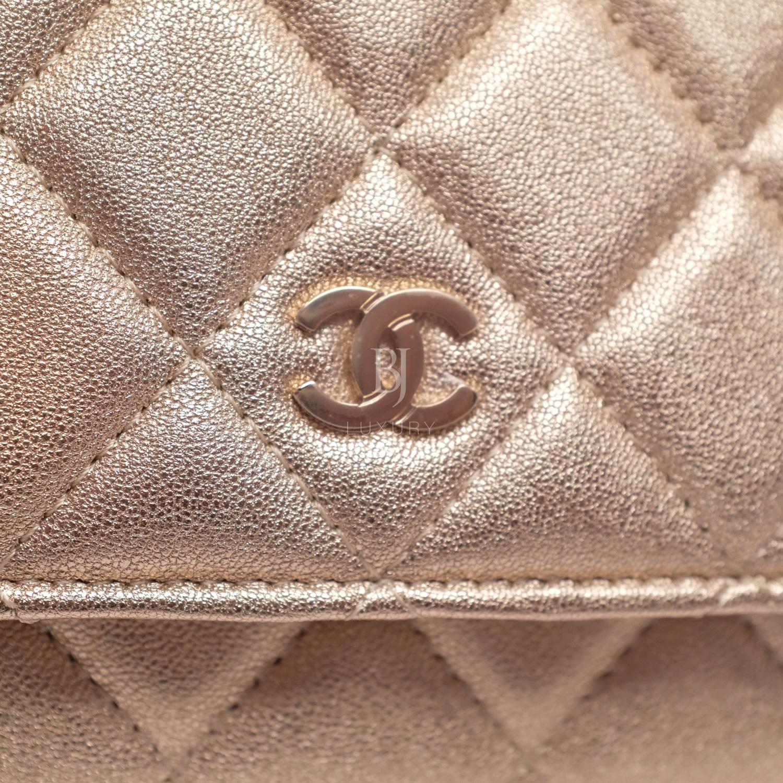 Chanel Wallet on Chain Mini Lambskin Light Gold BJ Luxury 11.jpg