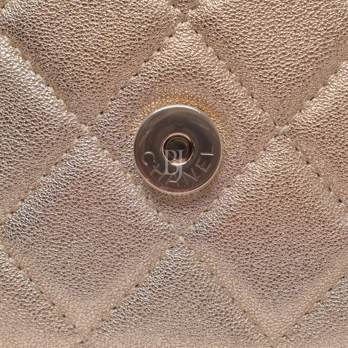 Chanel Wallet on Chain Mini Lambskin Light Gold BJ Luxury 15.jpg