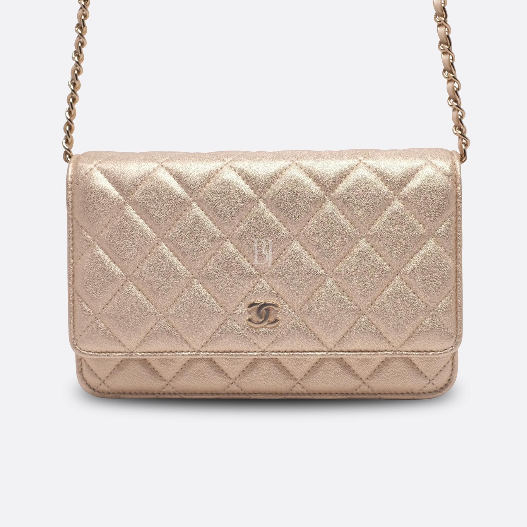 Chanel Wallet on Chain Mini Lambskin Light Gold BJ Luxury 18.jpg