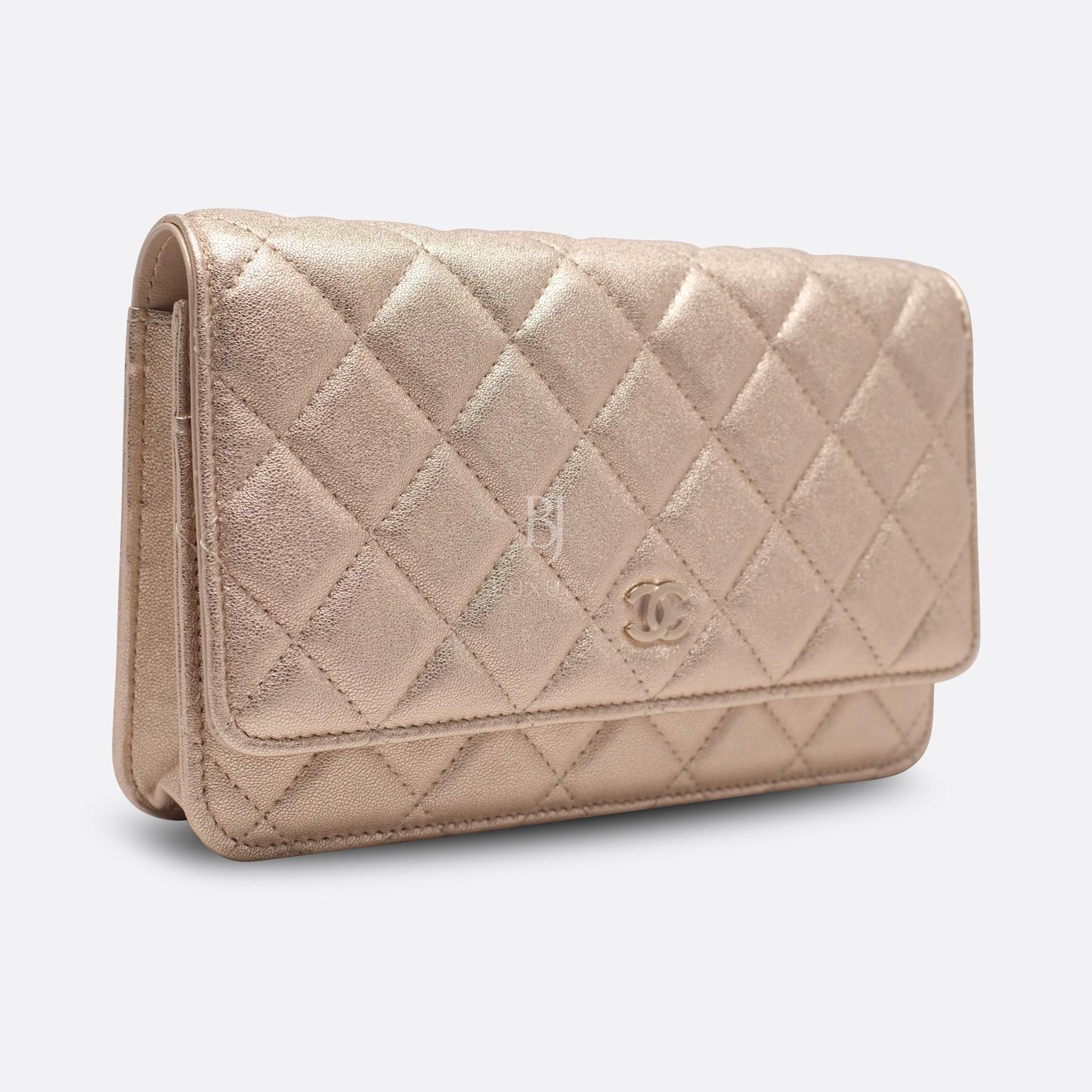 Chanel Wallet on Chain Mini Lambskin Light Gold BJ Luxury 2.jpg