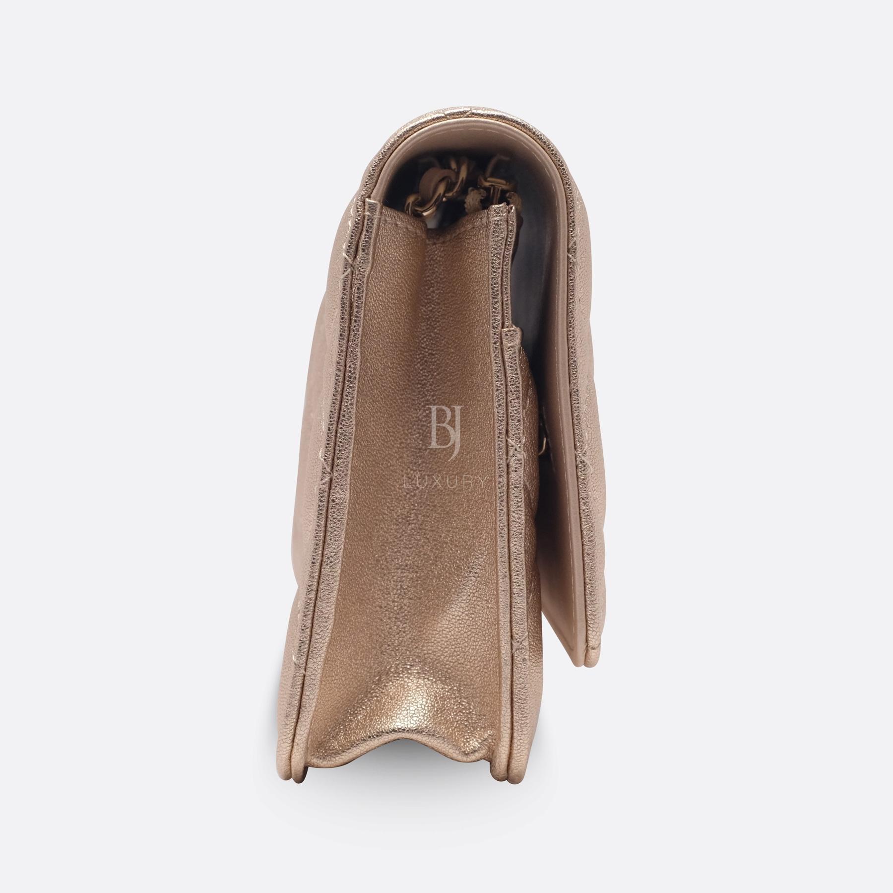 Chanel Wallet on Chain Mini Lambskin Light Gold BJ Luxury 3.jpg