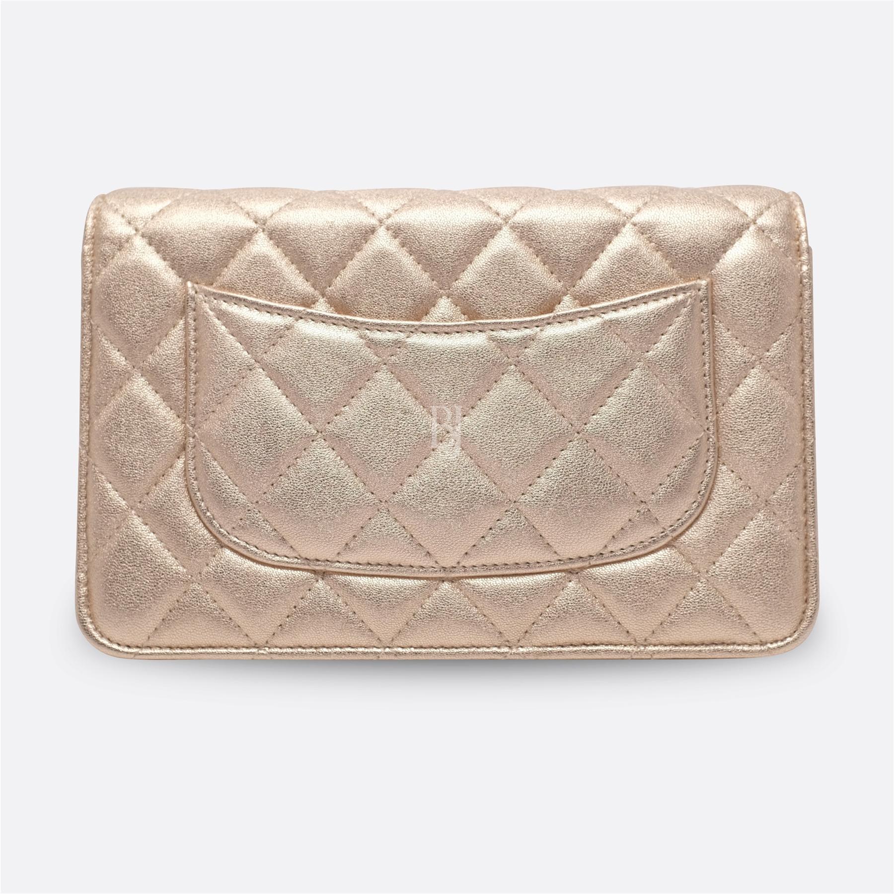 Chanel Wallet on Chain Mini Lambskin Light Gold BJ Luxury 4.jpg