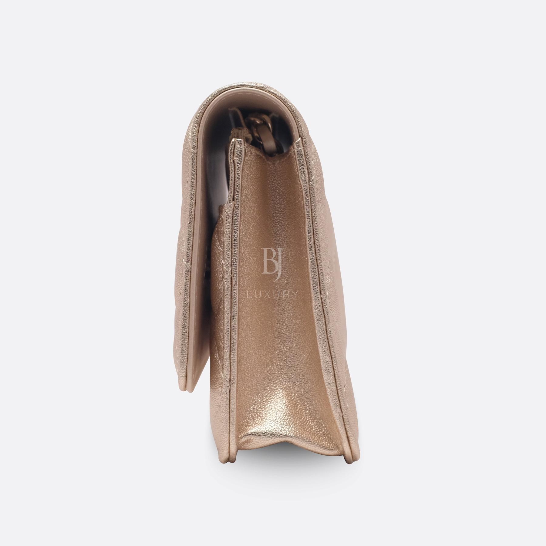 Chanel Wallet on Chain Mini Lambskin Light Gold BJ Luxury 5.jpg