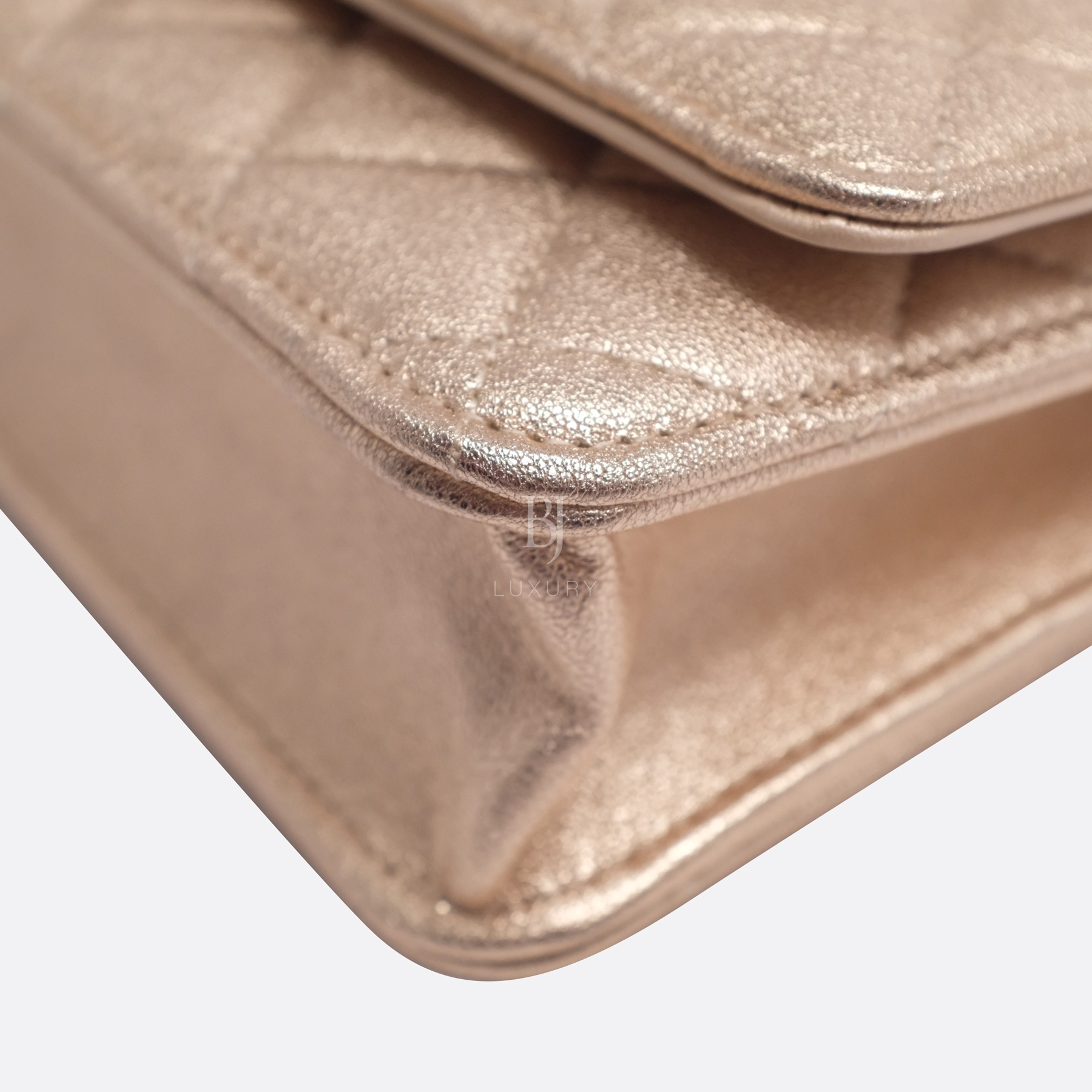 Chanel Wallet on Chain Mini Lambskin Light Gold BJ Luxury 8.jpg