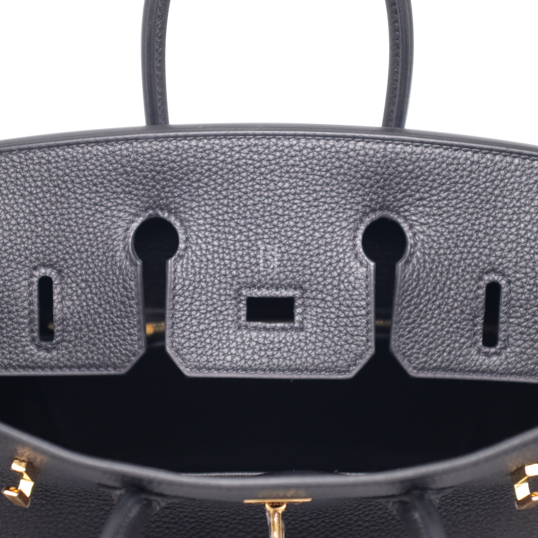 Hermes Birkin 25 Black Togo Gold Hardware BJ Luxury 1.jpg