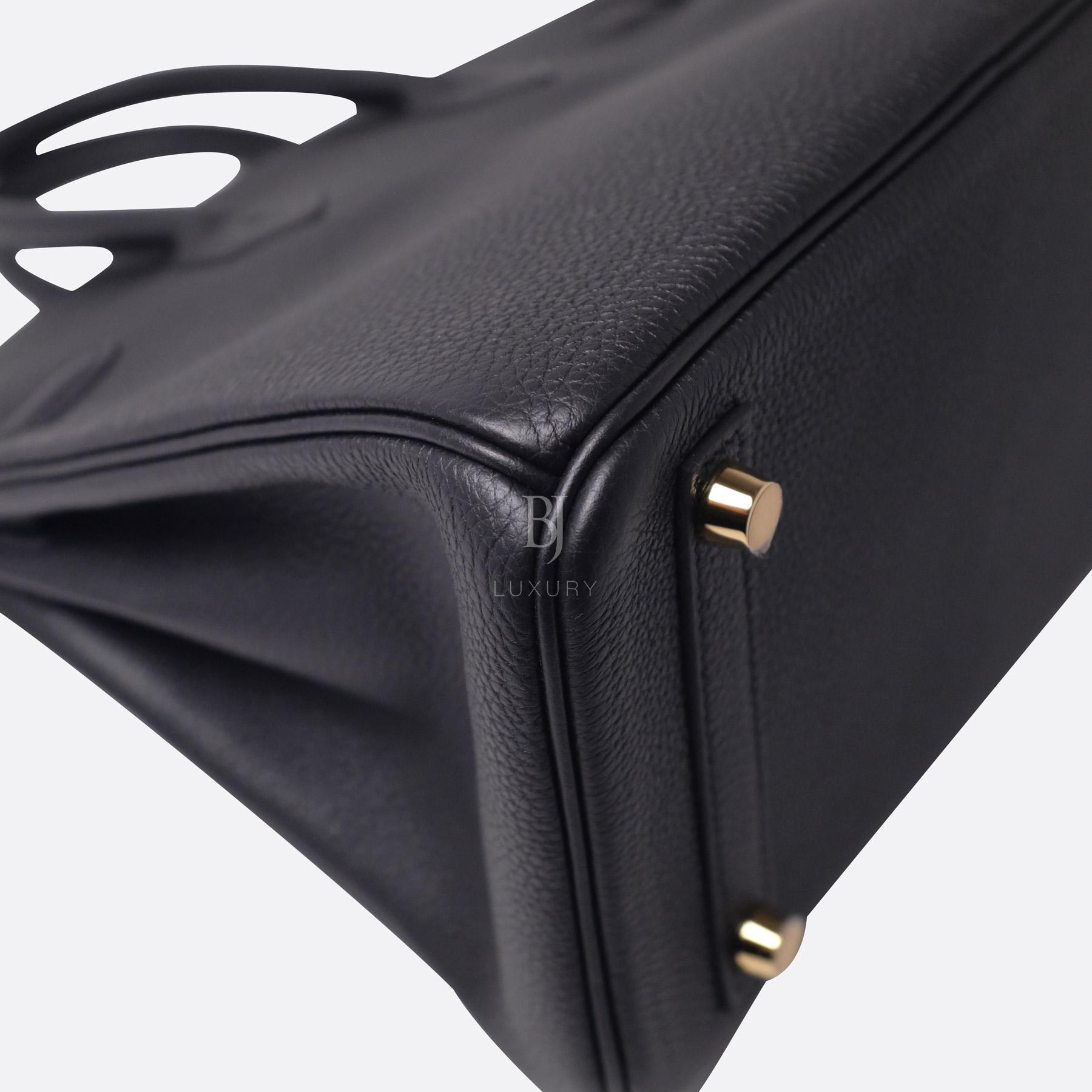Hermes Birkin 25 Black Togo Gold Hardware BJ Luxury 13.jpg