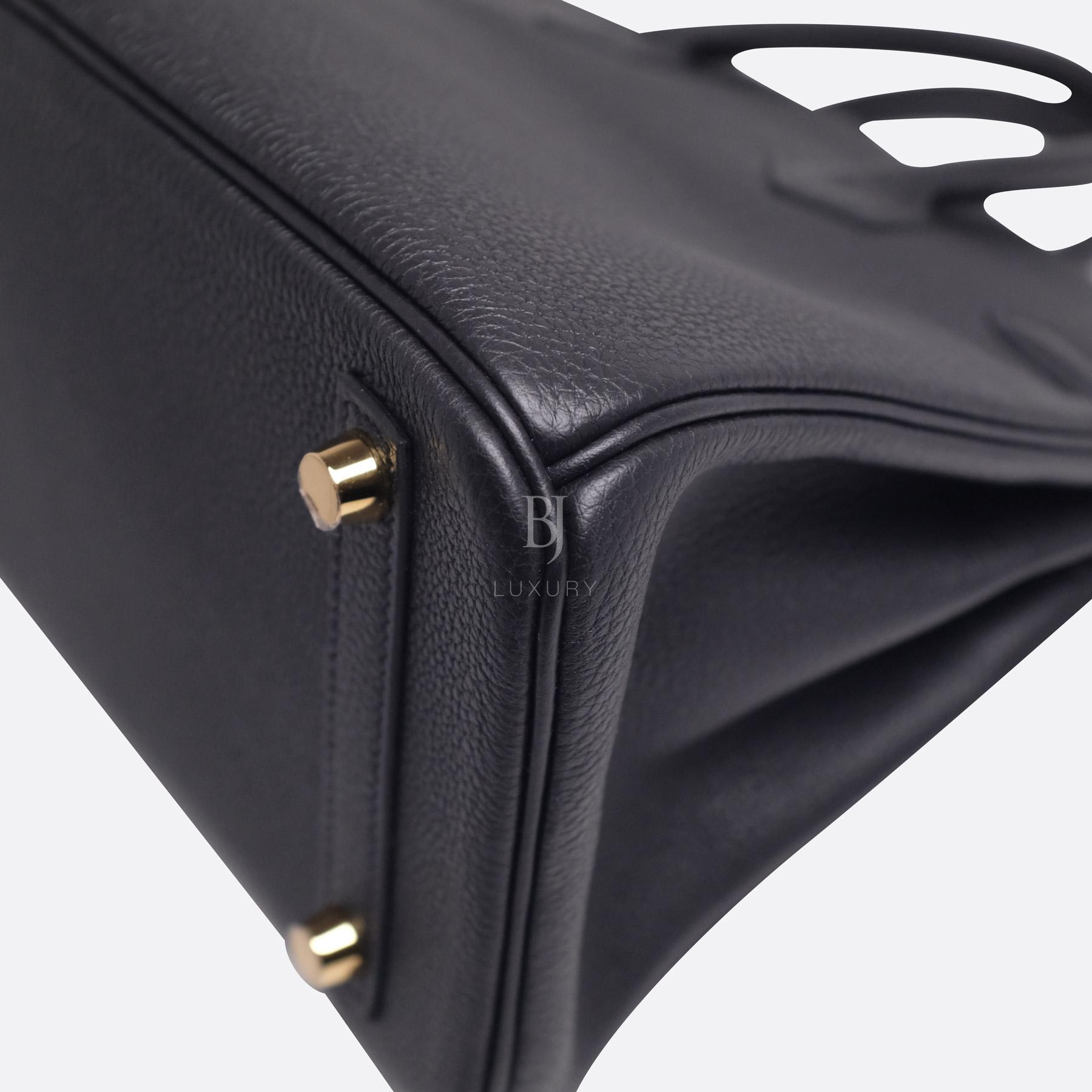 Hermes Birkin 25 Black Togo Gold Hardware BJ Luxury 14.jpg