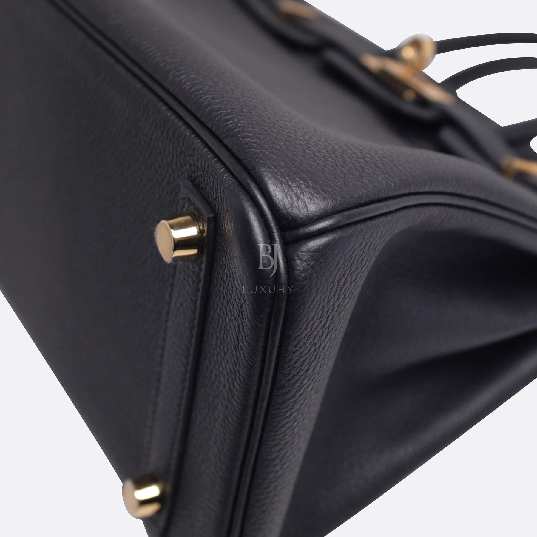 Hermes Birkin 25 Black Togo Gold Hardware BJ Luxury 15.jpg