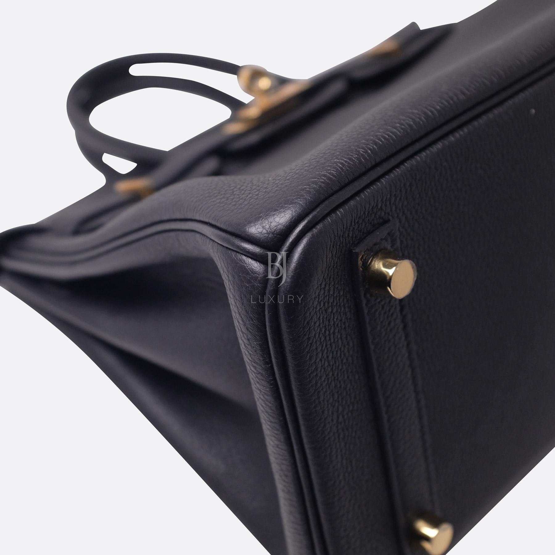 Hermes Birkin 25 Black Togo Gold Hardware BJ Luxury 16.jpg
