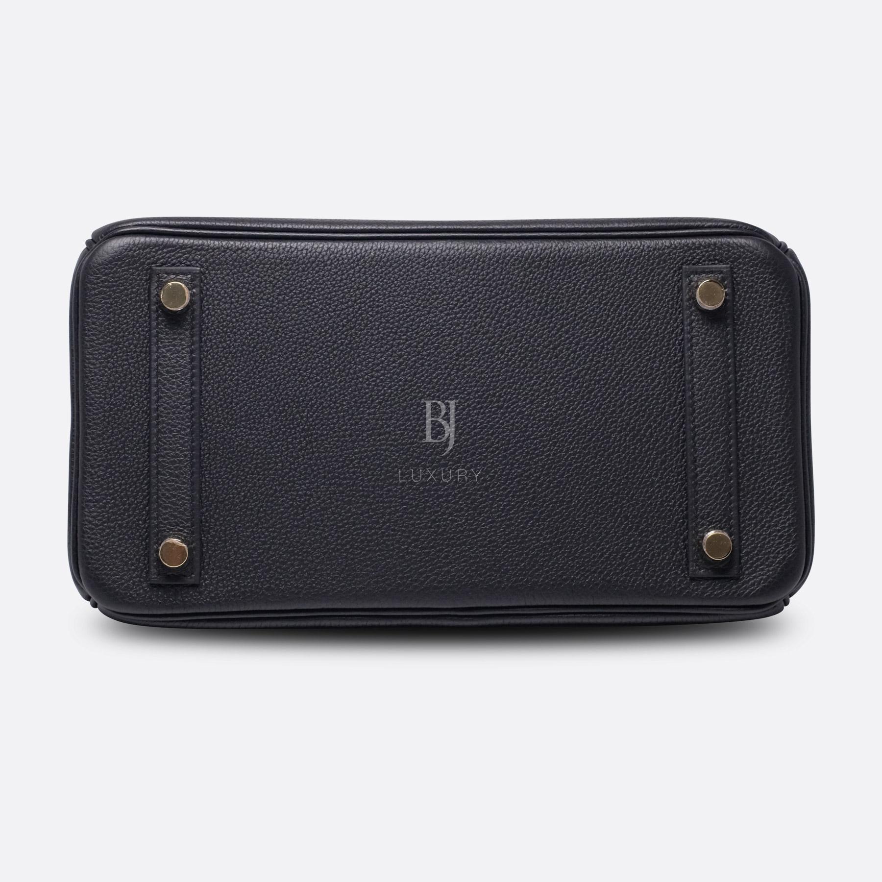 Hermes Birkin 25 Black Togo Gold Hardware BJ Luxury 17.jpg