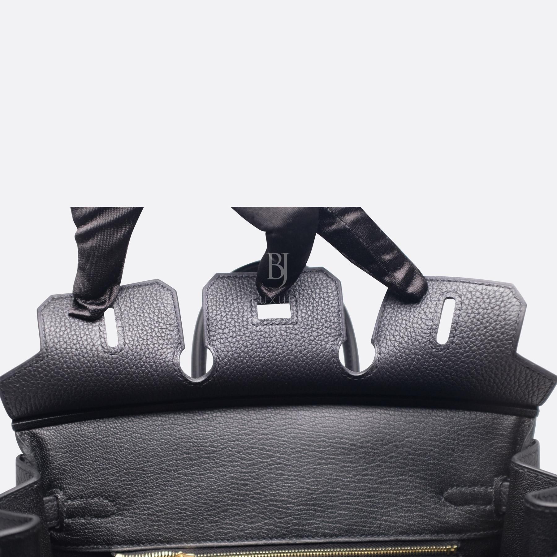 Hermes Birkin 25 Black Togo Gold Hardware BJ Luxury 2.jpg