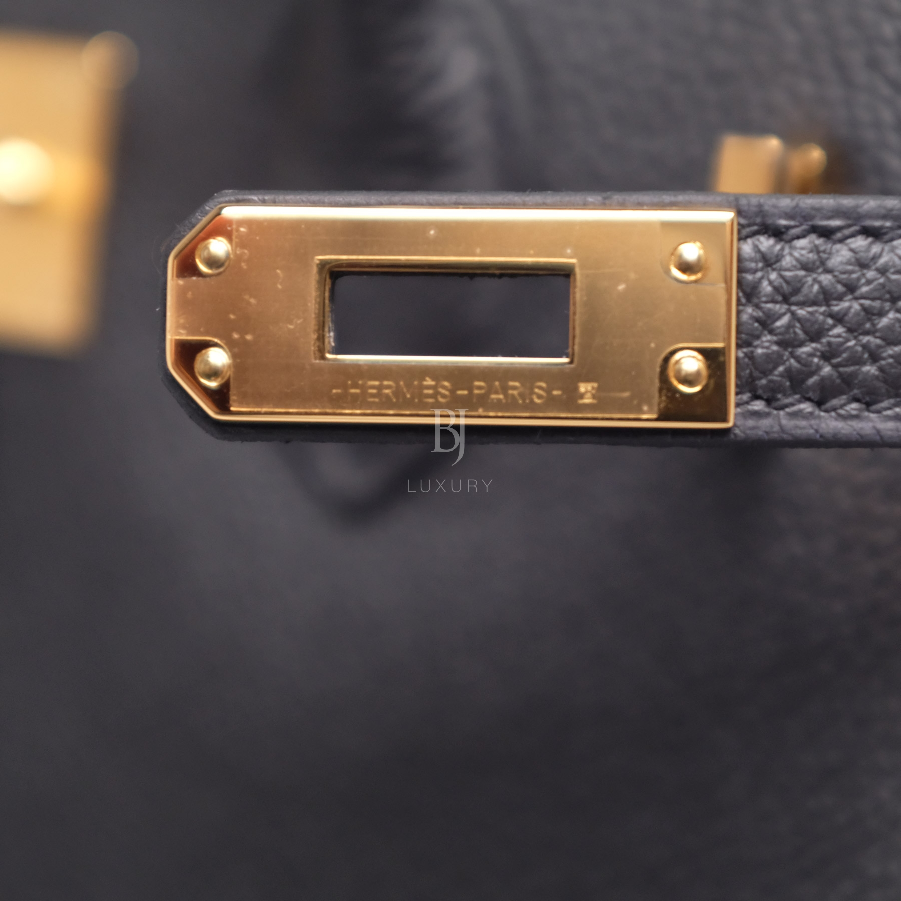 Hermes Birkin 25 Black Togo Gold Hardware BJ Luxury 5.jpg