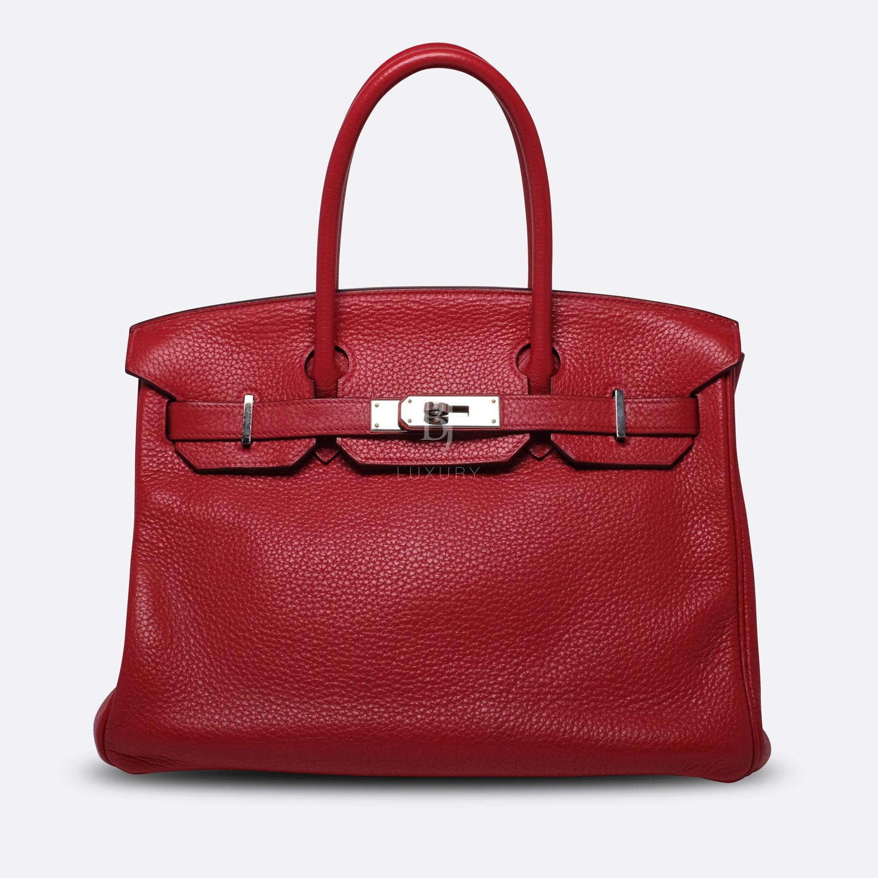 Hermes Birkin 30 Rouge Casaque Clemence Palladium BJ Luxury 10.jpg