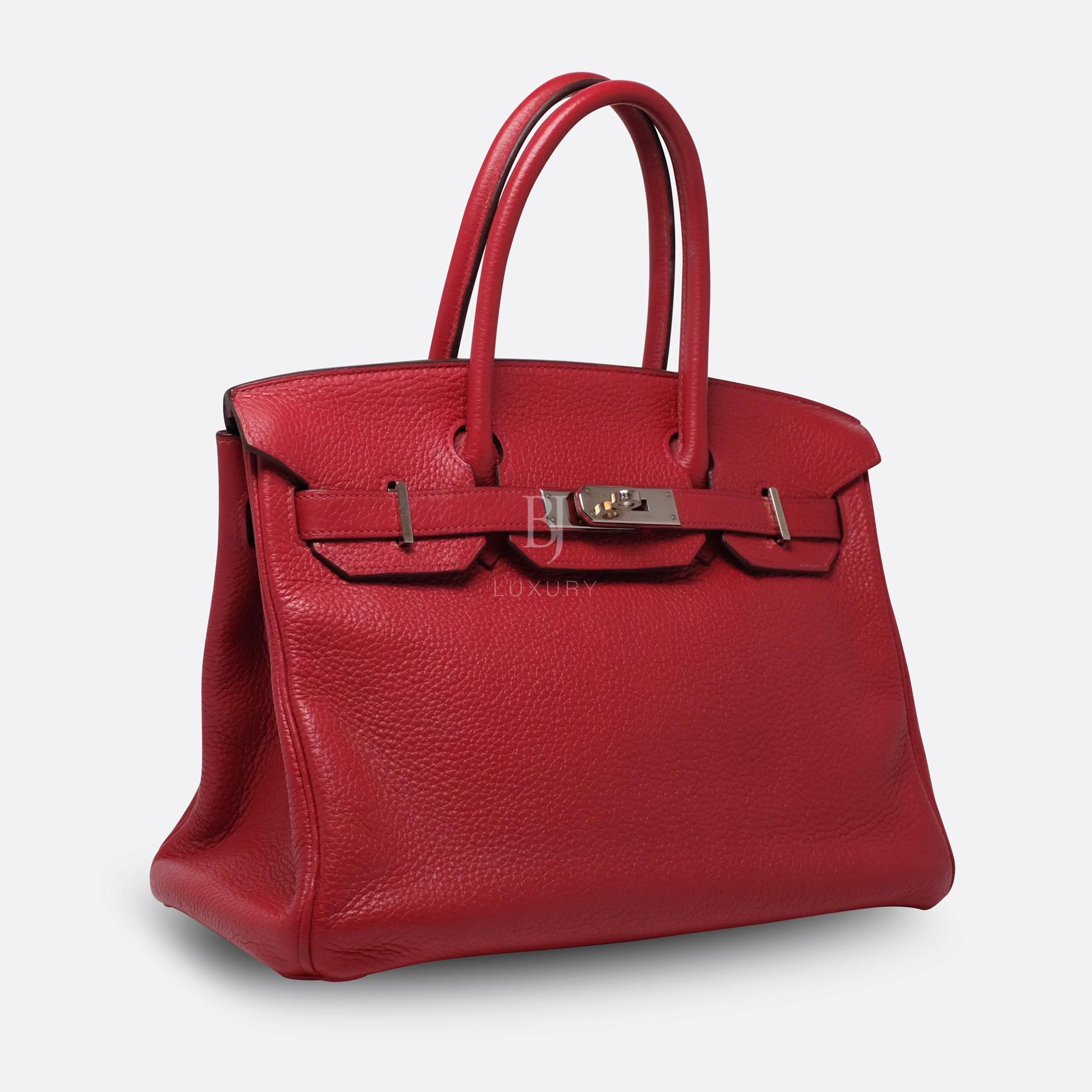 Hermes Birkin 30 Rouge Casaque Clemence Palladium BJ Luxury 11.jpg