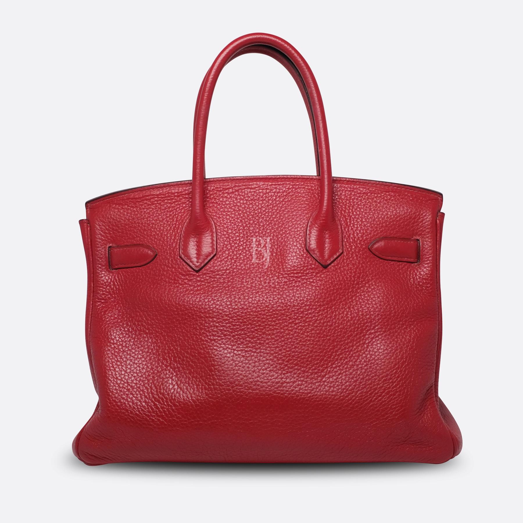 Hermes Birkin 30 Rouge Casaque Clemence Palladium BJ Luxury 13.jpg