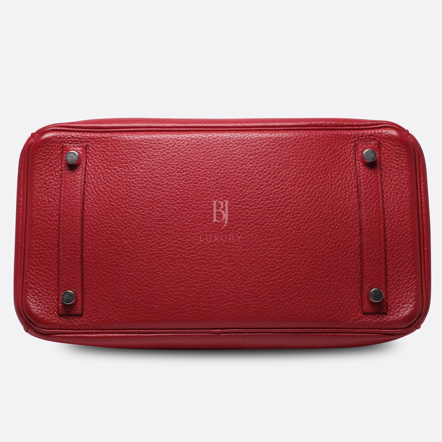 Hermes Birkin 30 Rouge Casaque Clemence Palladium BJ Luxury 15.jpg