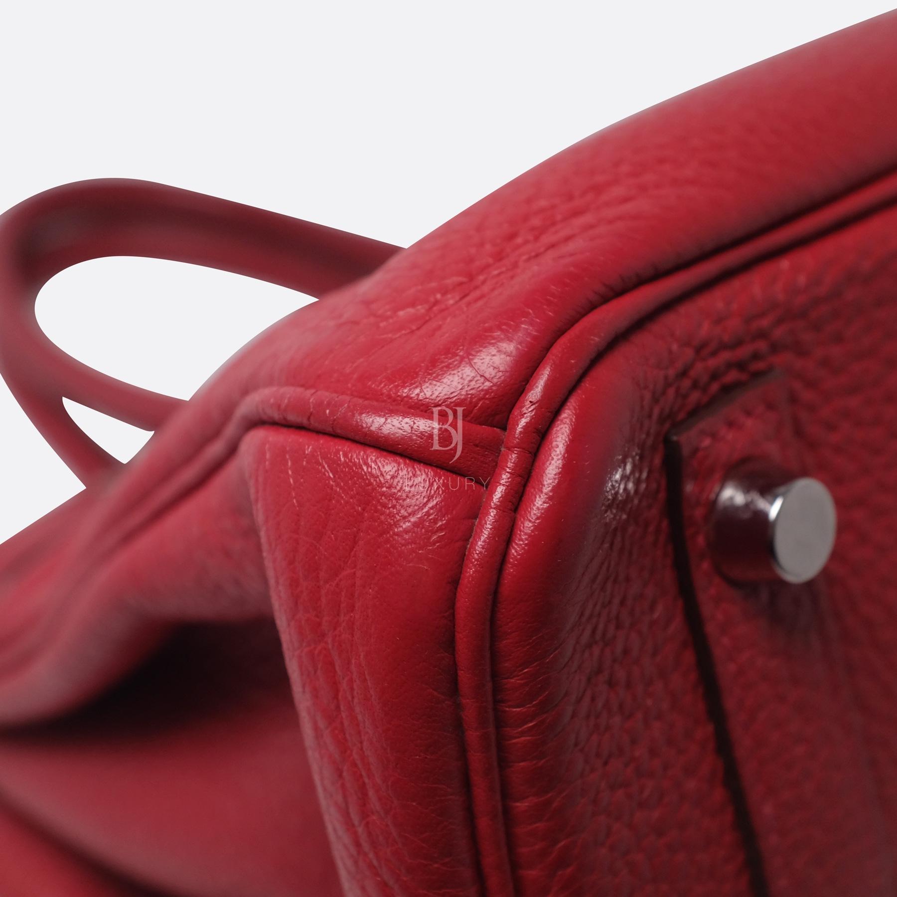 Hermes Birkin 30 Rouge Casaque Clemence Palladium BJ Luxury 16.jpg