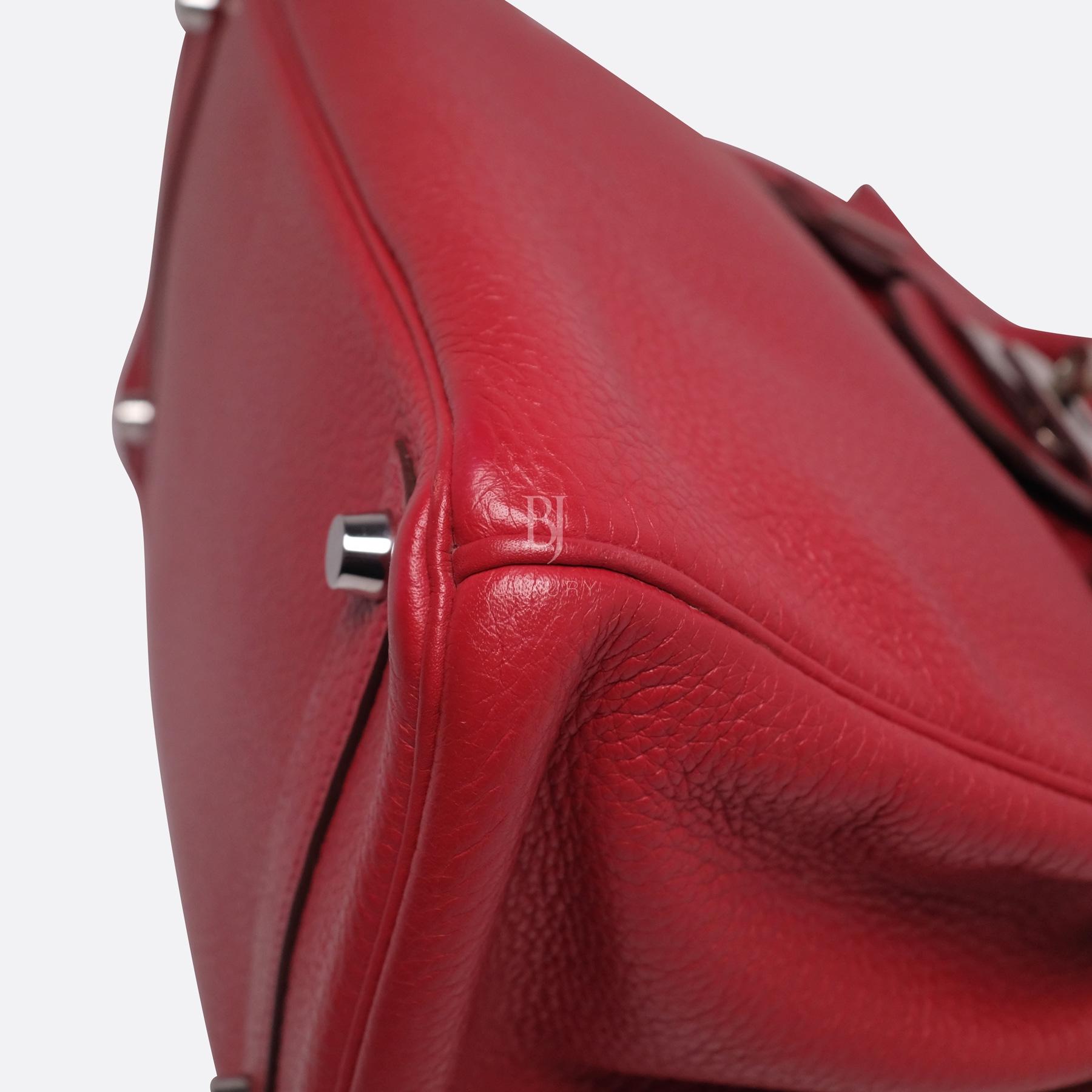 Hermes Birkin 30 Rouge Casaque Clemence Palladium BJ Luxury 17.jpg