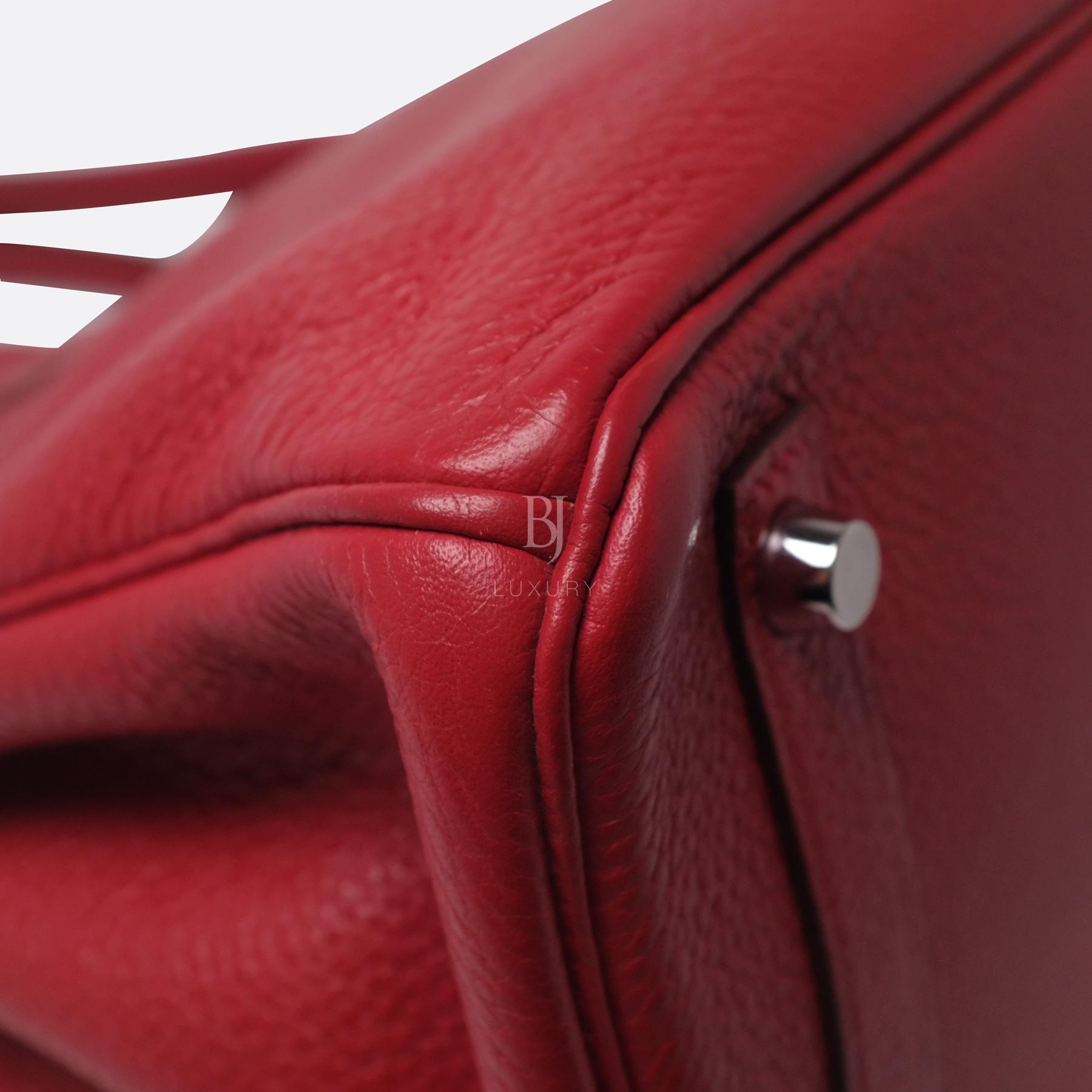 Hermes Birkin 30 Rouge Casaque Clemence Palladium BJ Luxury 19.jpg