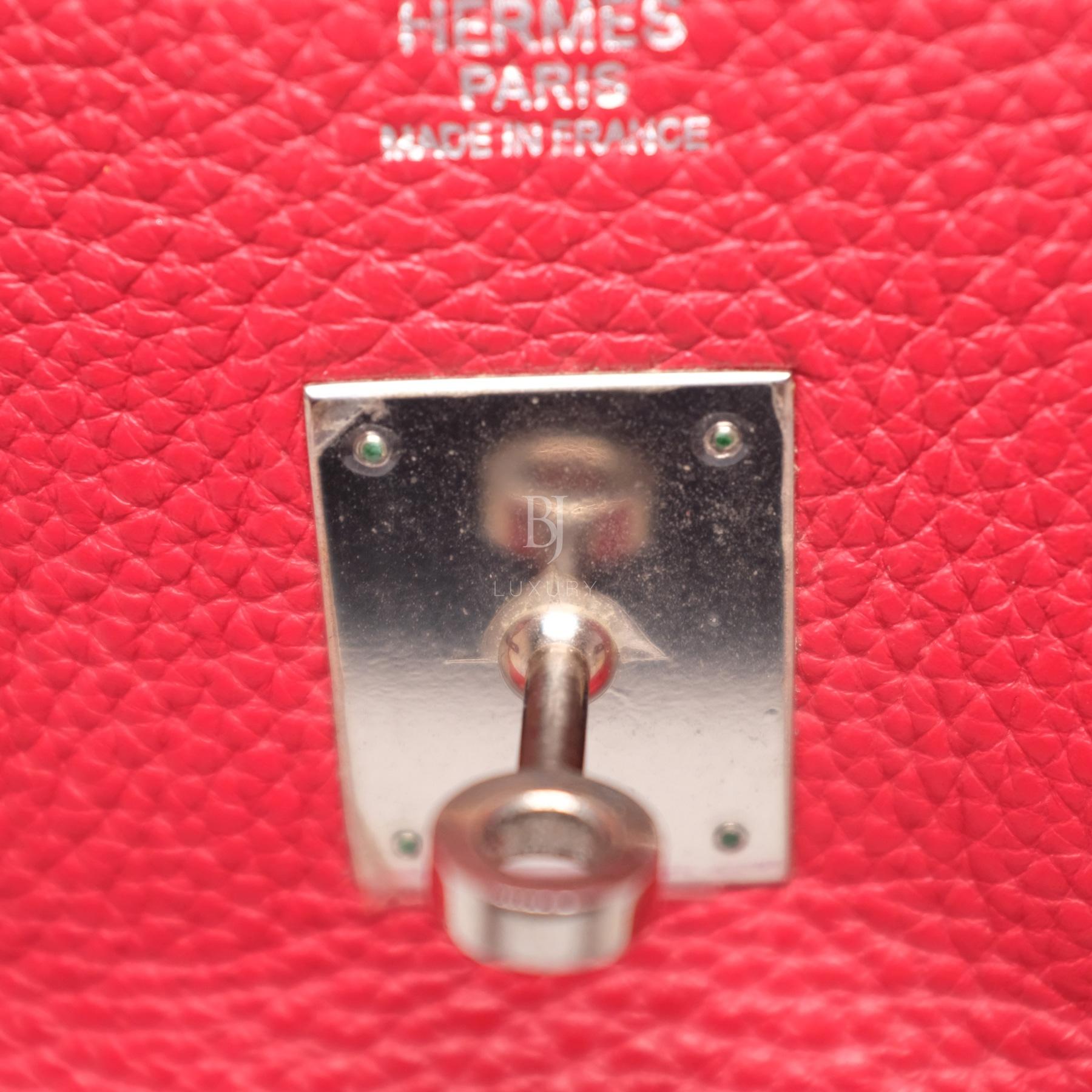 Hermes Birkin 30 Rouge Casaque Clemence Palladium BJ Luxury 2.jpg