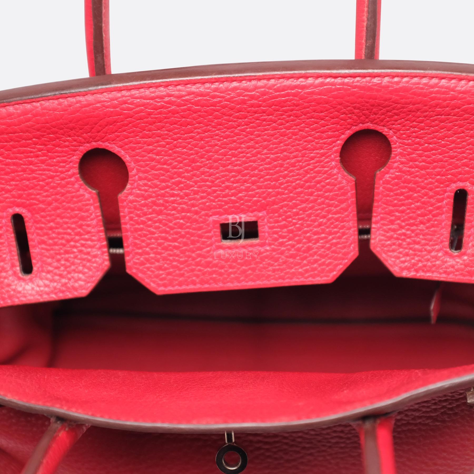 Hermes Birkin 30 Rouge Casaque Clemence Palladium BJ Luxury 6.jpg