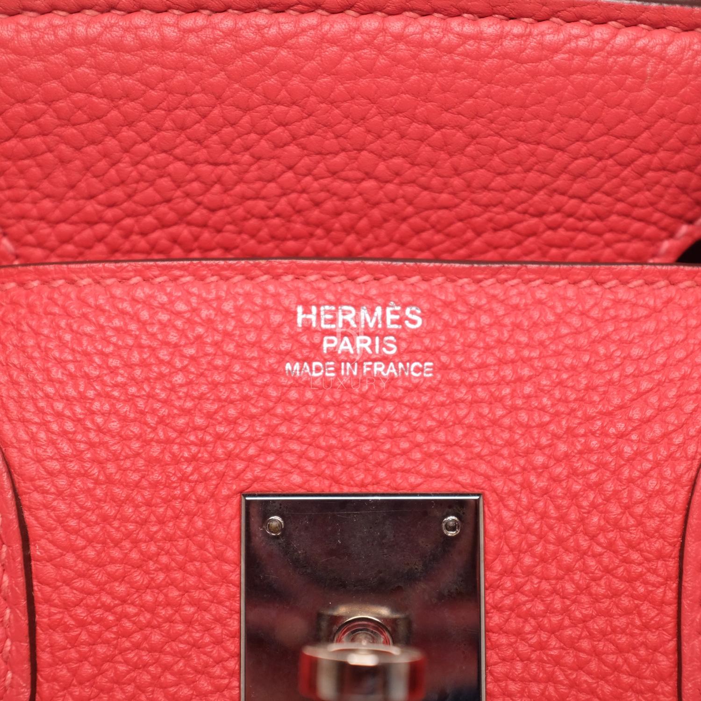 Hermes Birkin 30 Rougue Pivoine Togo Palladium BJ Luxury 1.jpg