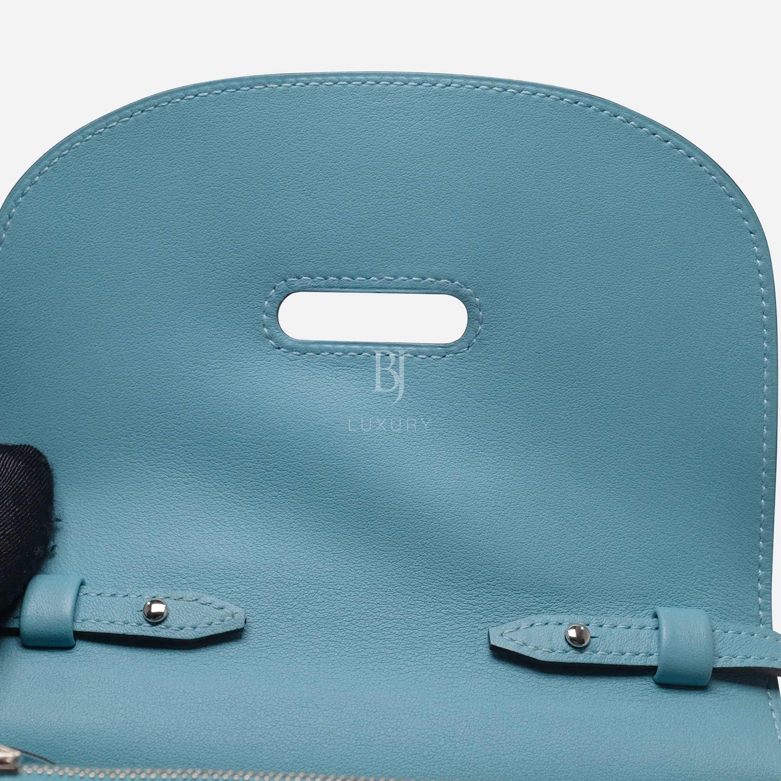 Hermes Conveyor Bag 16 Turquoise Swift Lizard Palladium BJ Luxury 12.jpg