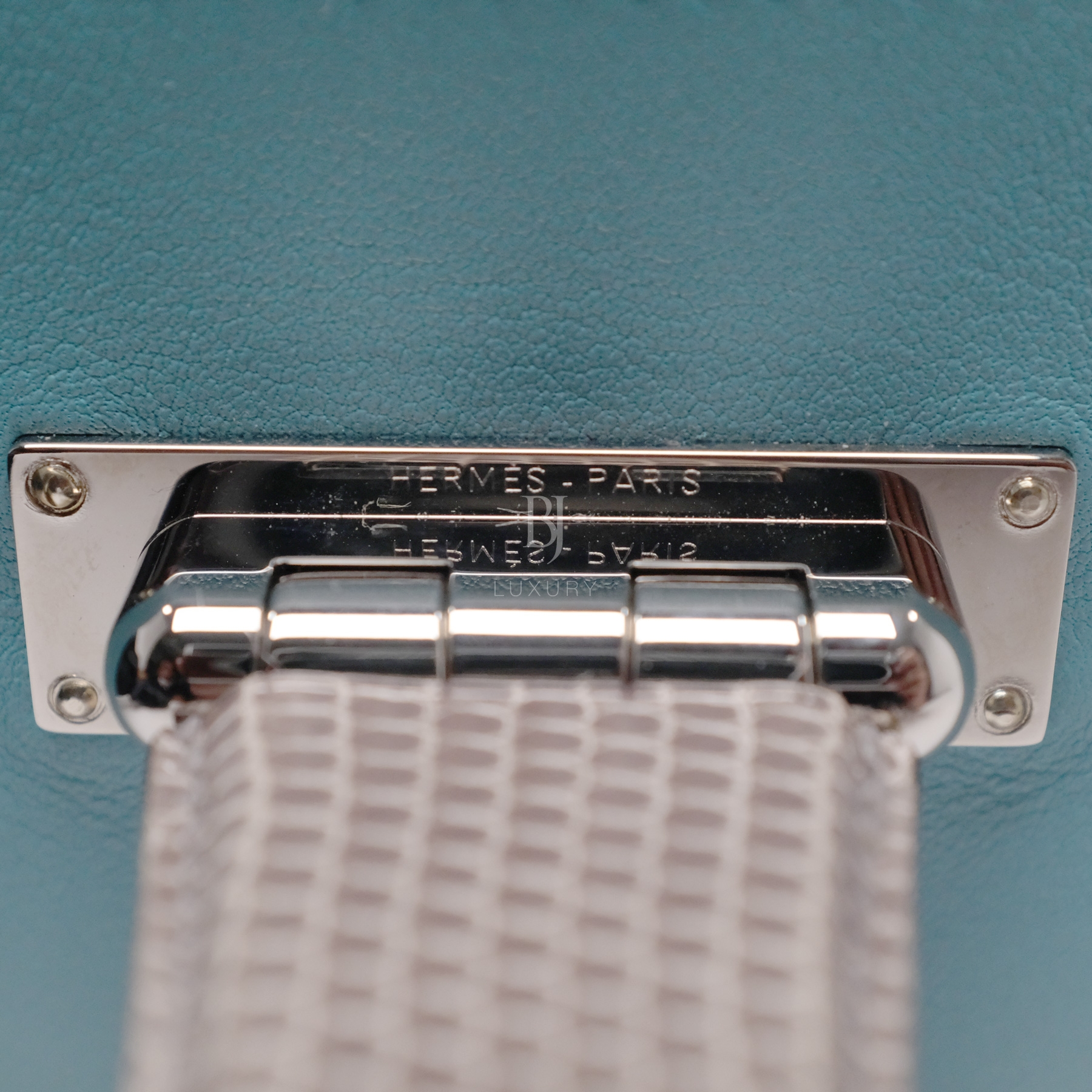 Hermes Conveyor Bag 16 Turquoise Swift Lizard Palladium BJ Luxury 13.jpg